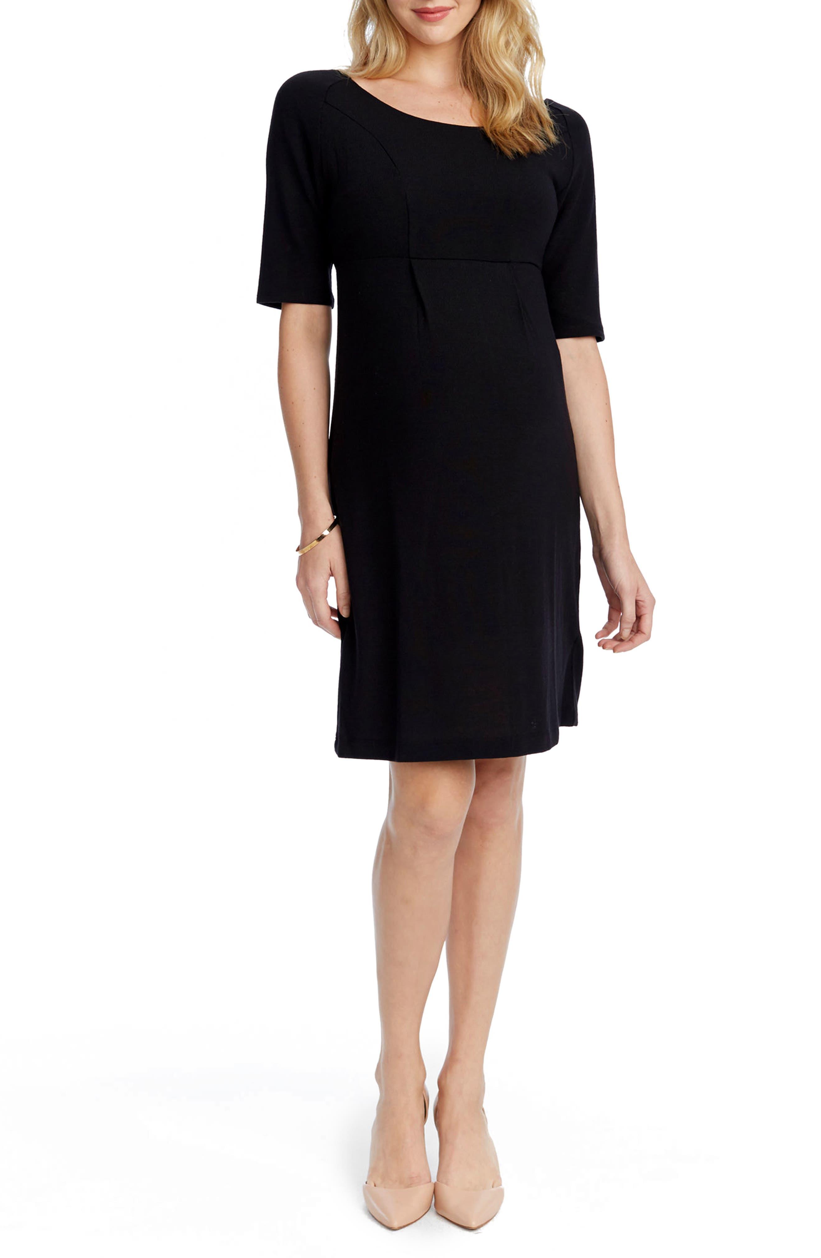 Avery Maternity Sheath Dress,                             Main thumbnail 1, color,                             BLACK