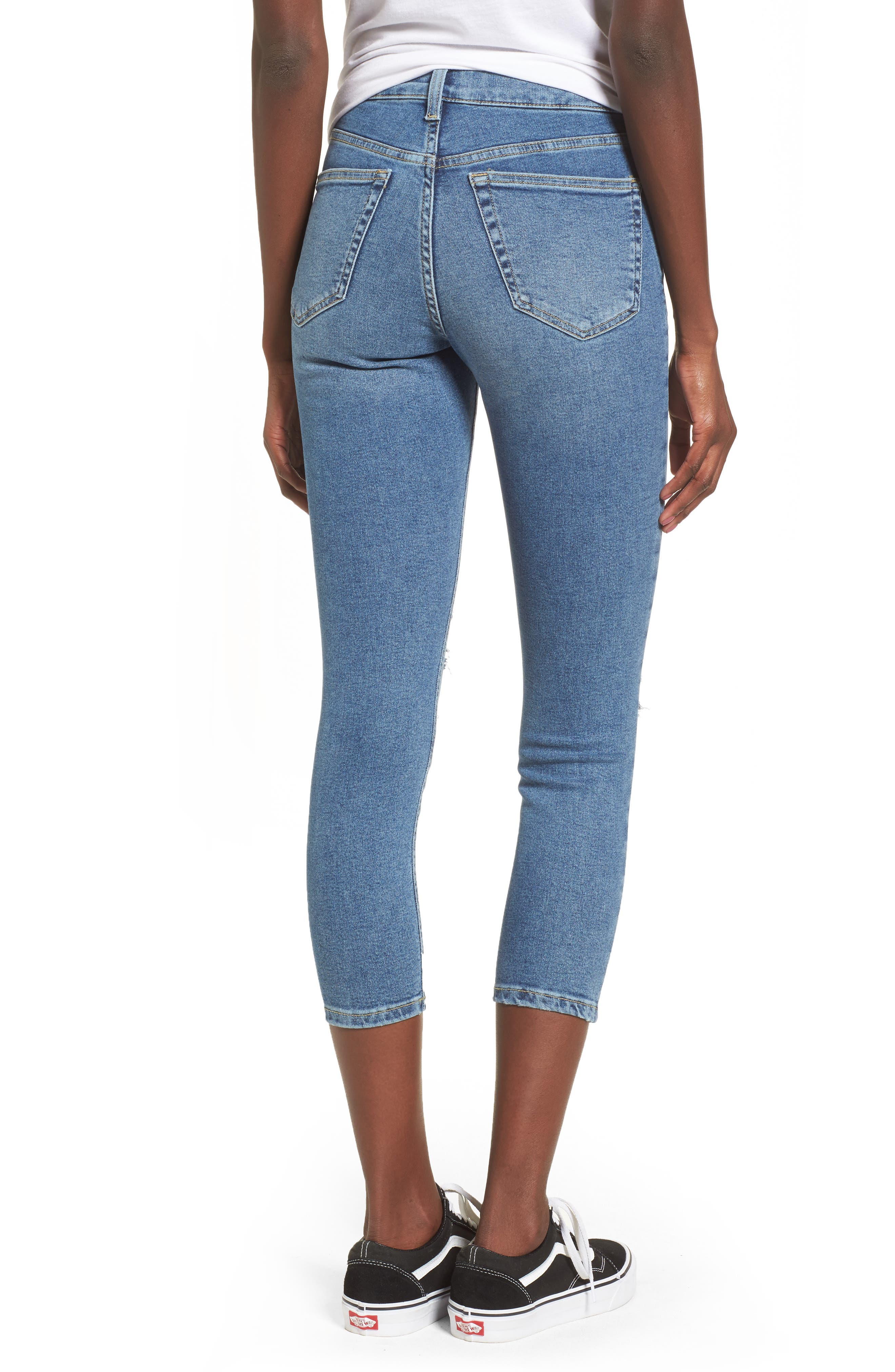 Jamie High Waist Skinny Jeans,                             Alternate thumbnail 2, color,