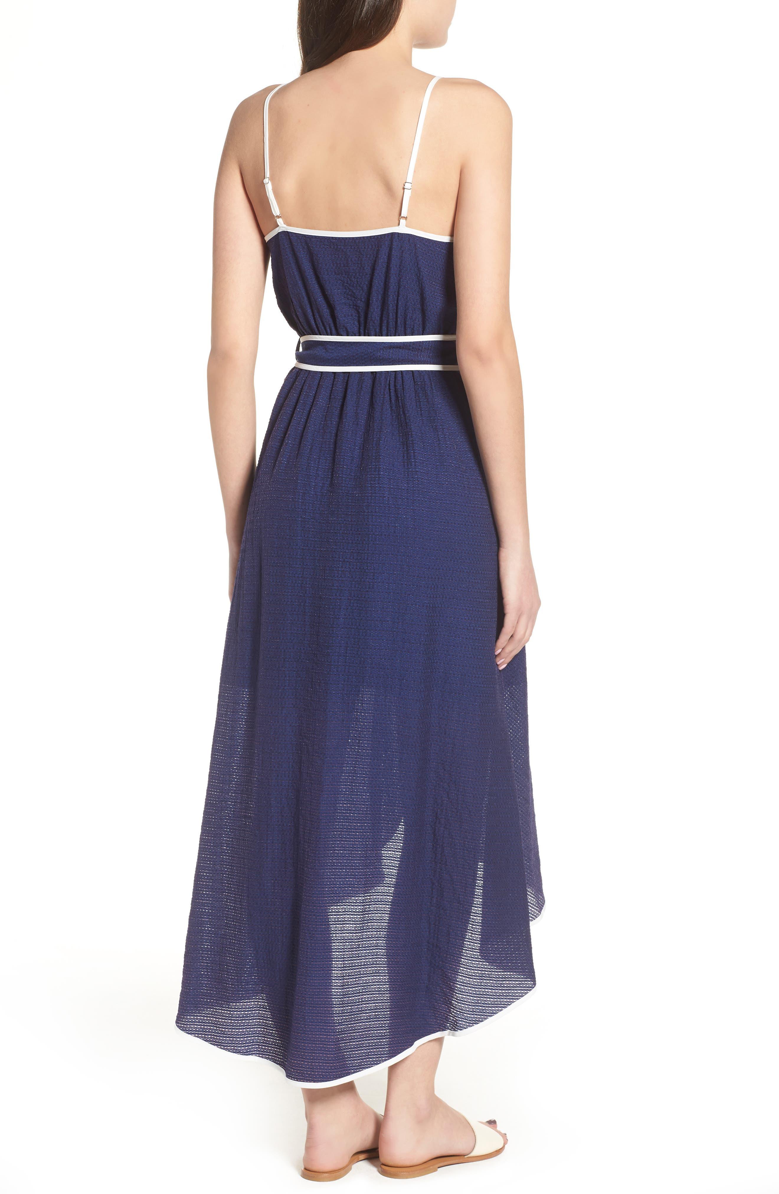 Midi Wrap Style Dress,                             Alternate thumbnail 2, color,