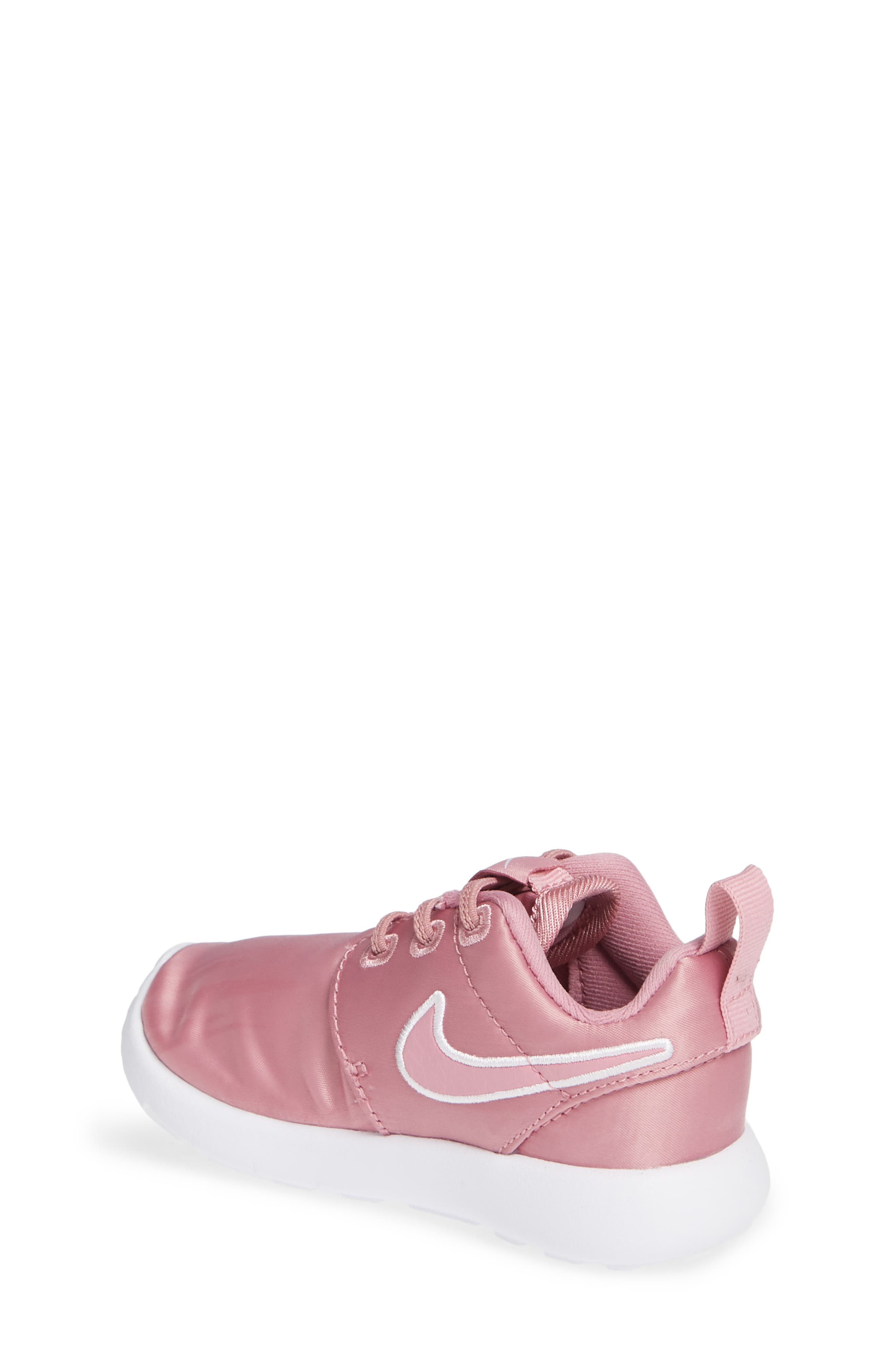 Roshe Run Sneaker,                             Alternate thumbnail 2, color,                             ELEMENTAL PINK/ PINK-WHITE