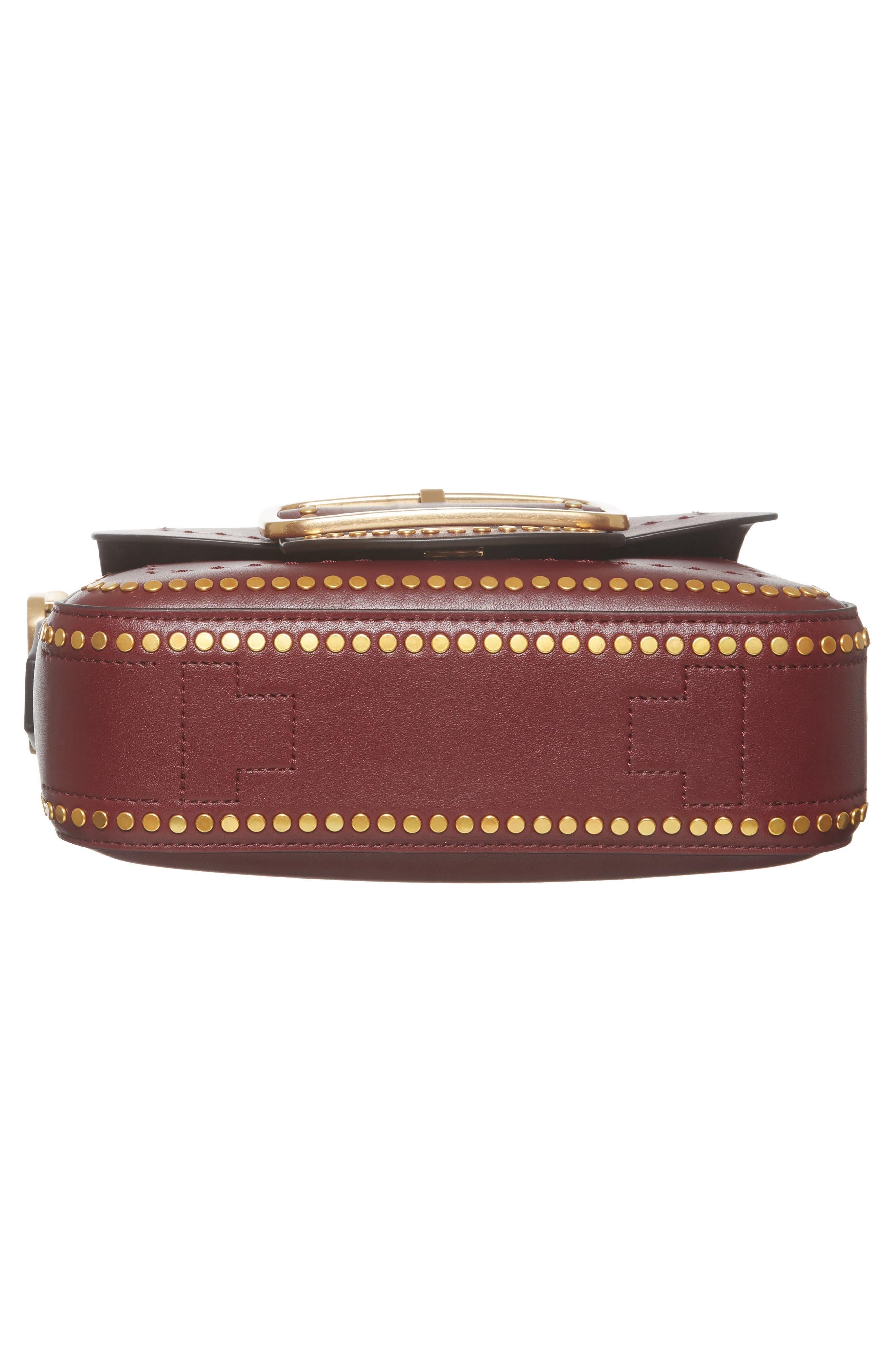 Small Sawyer Studded Leather Shoulder Bag,                             Alternate thumbnail 6, color,                             616