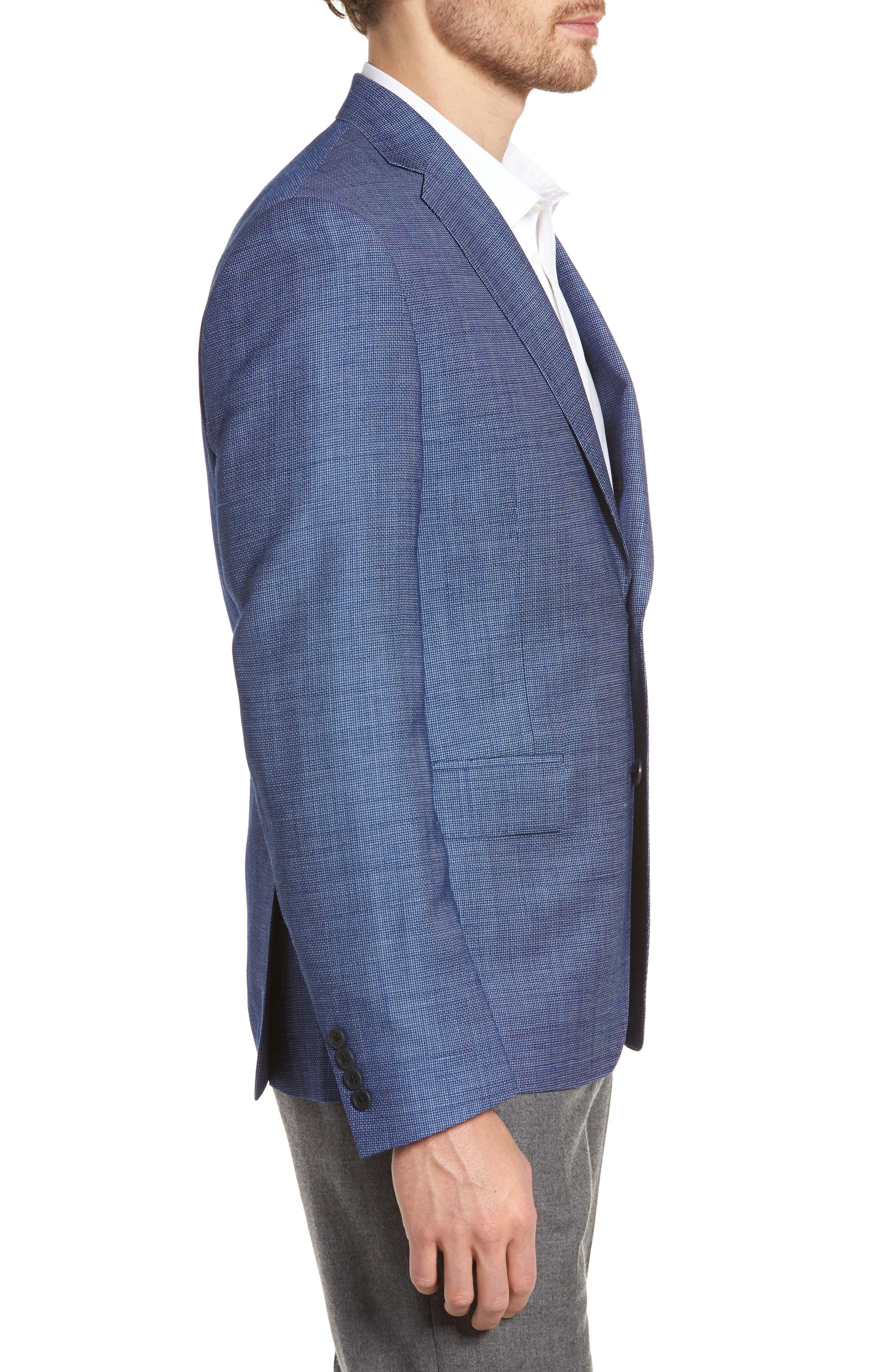 Extra Trim Fit Wool & Linen Blazer,                             Alternate thumbnail 3, color,                             401