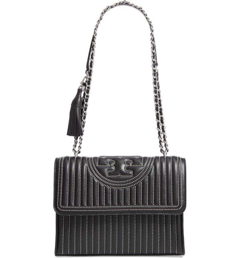 Tory Burch Fleming Mini Stud Leather Convertible Shoulder Bag ... 5926e27b337e1