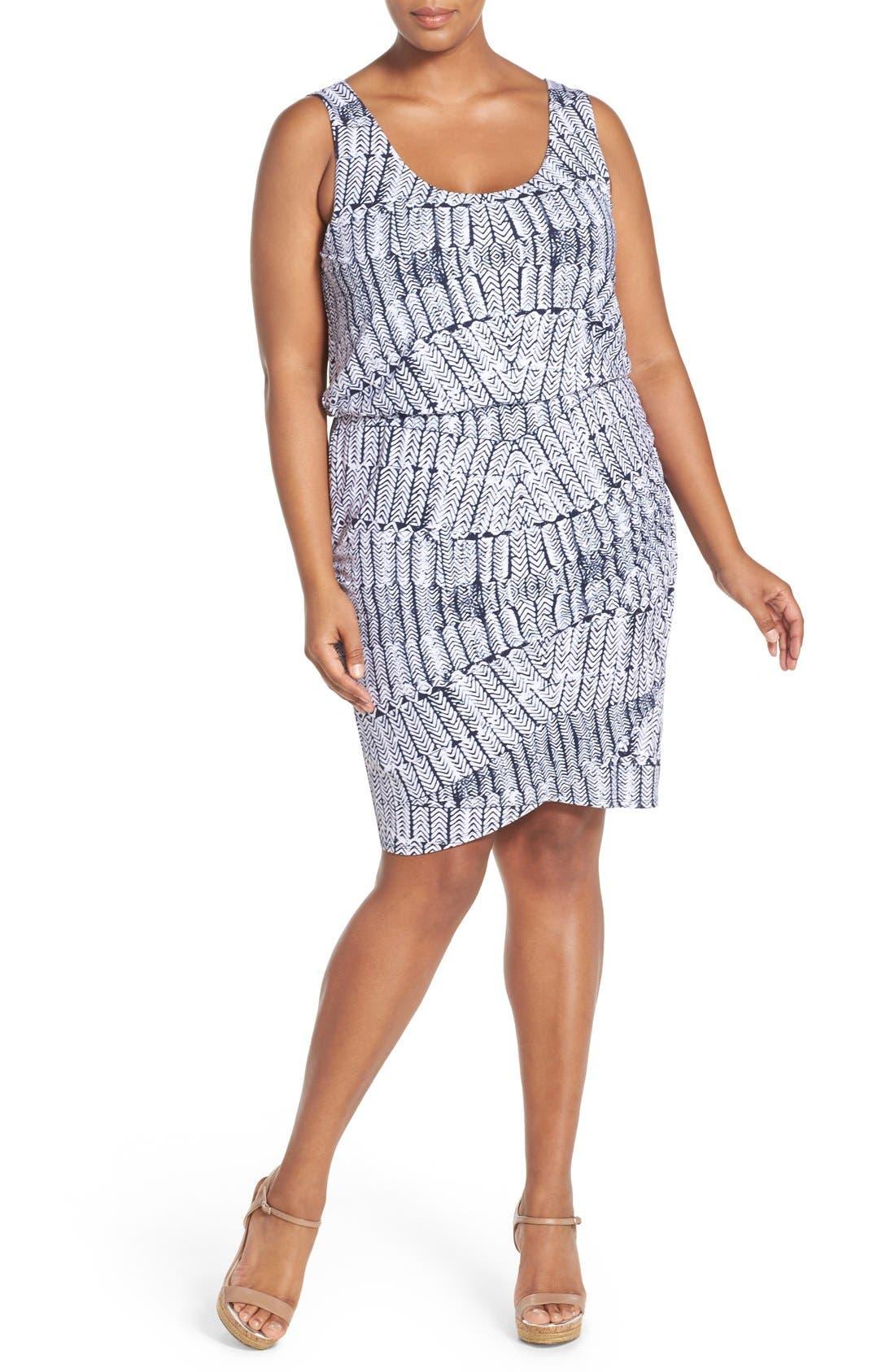 Jan Print Jersey Sleeveless Blouson Dress,                             Alternate thumbnail 4, color,                             027