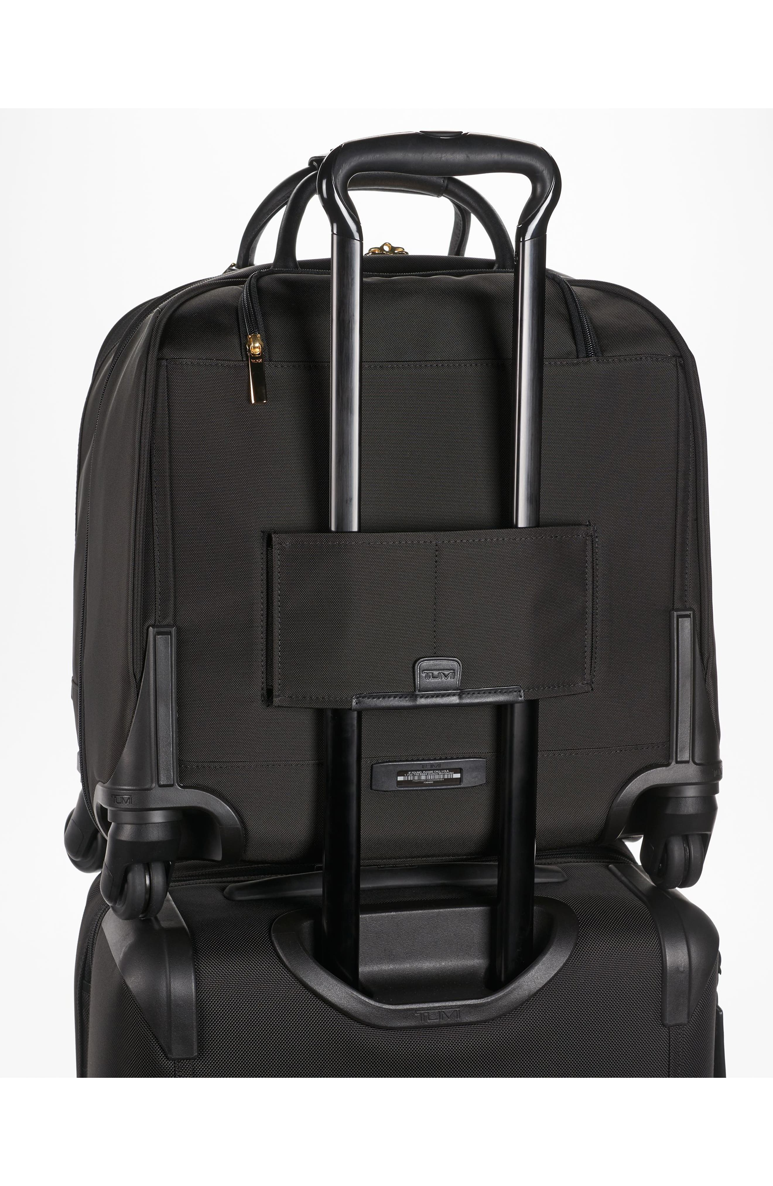 Larkin - Shannon 11-Inch Compact Nylon Wheeled Carry-On,                             Alternate thumbnail 3, color,                             001