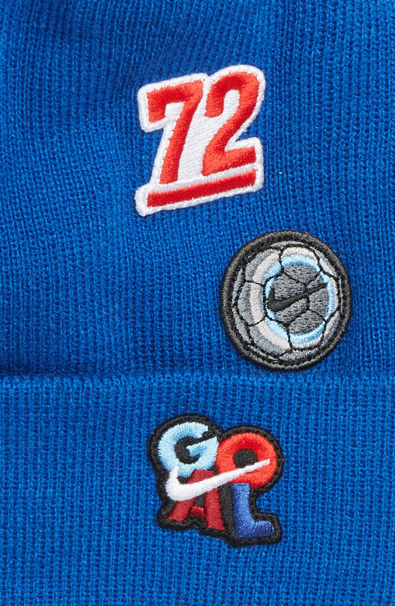 Patch Pom Beanie & Gloves Set,                             Alternate thumbnail 2, color,                             GAME ROYAL