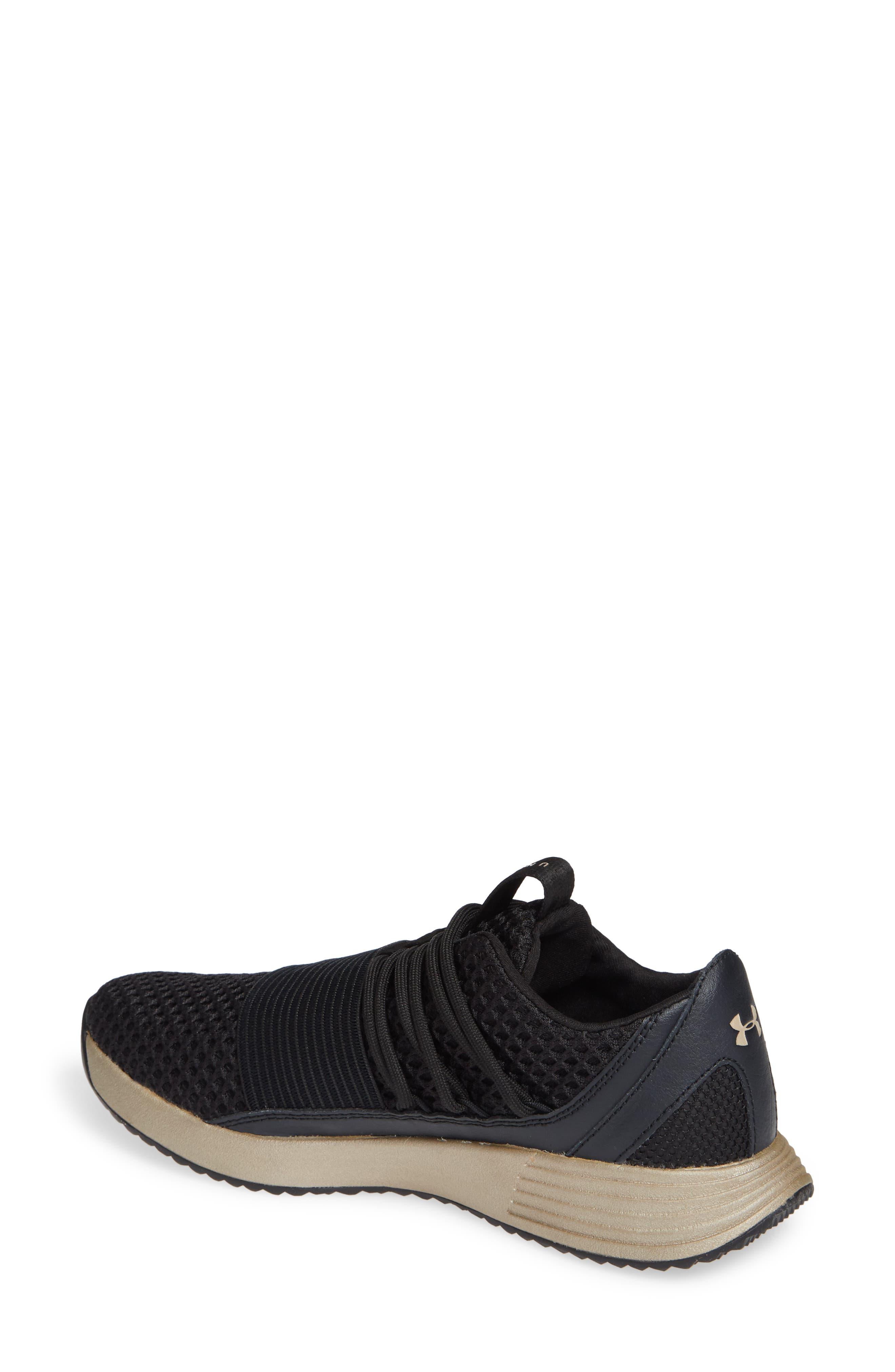 Breathe Lace X NM Sneaker,                             Alternate thumbnail 2, color,                             BLACK/ METALLIC FADED GOLD