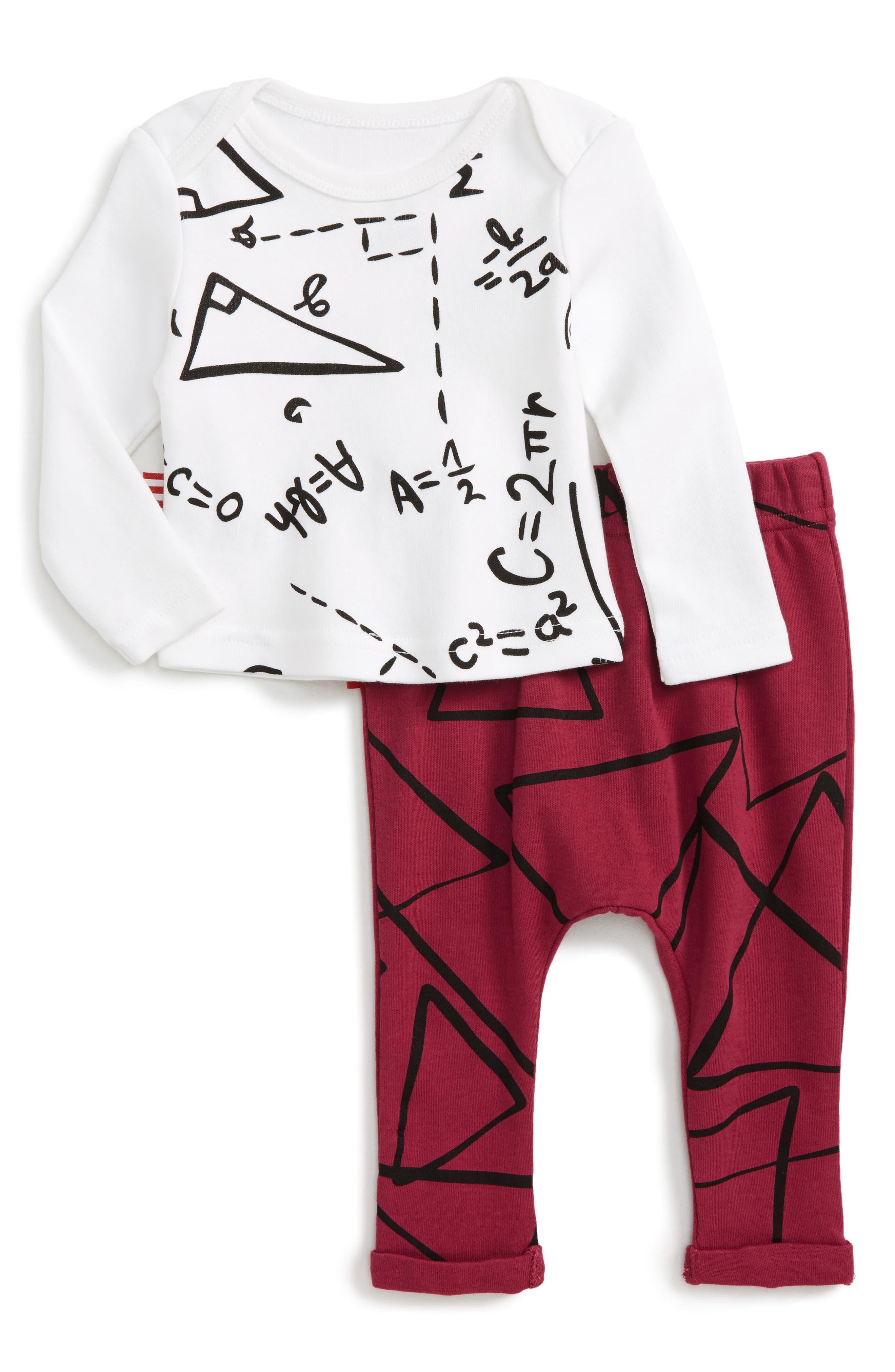 Genius at Work Tee & Pants Set,                         Main,                         color, 199