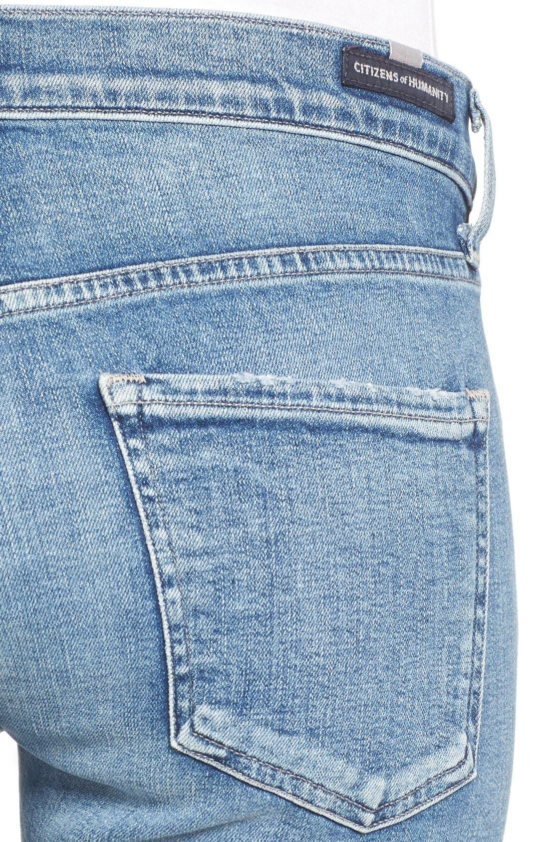 Jazmin Crop Straight Leg Jeans,                             Alternate thumbnail 5, color,                             424