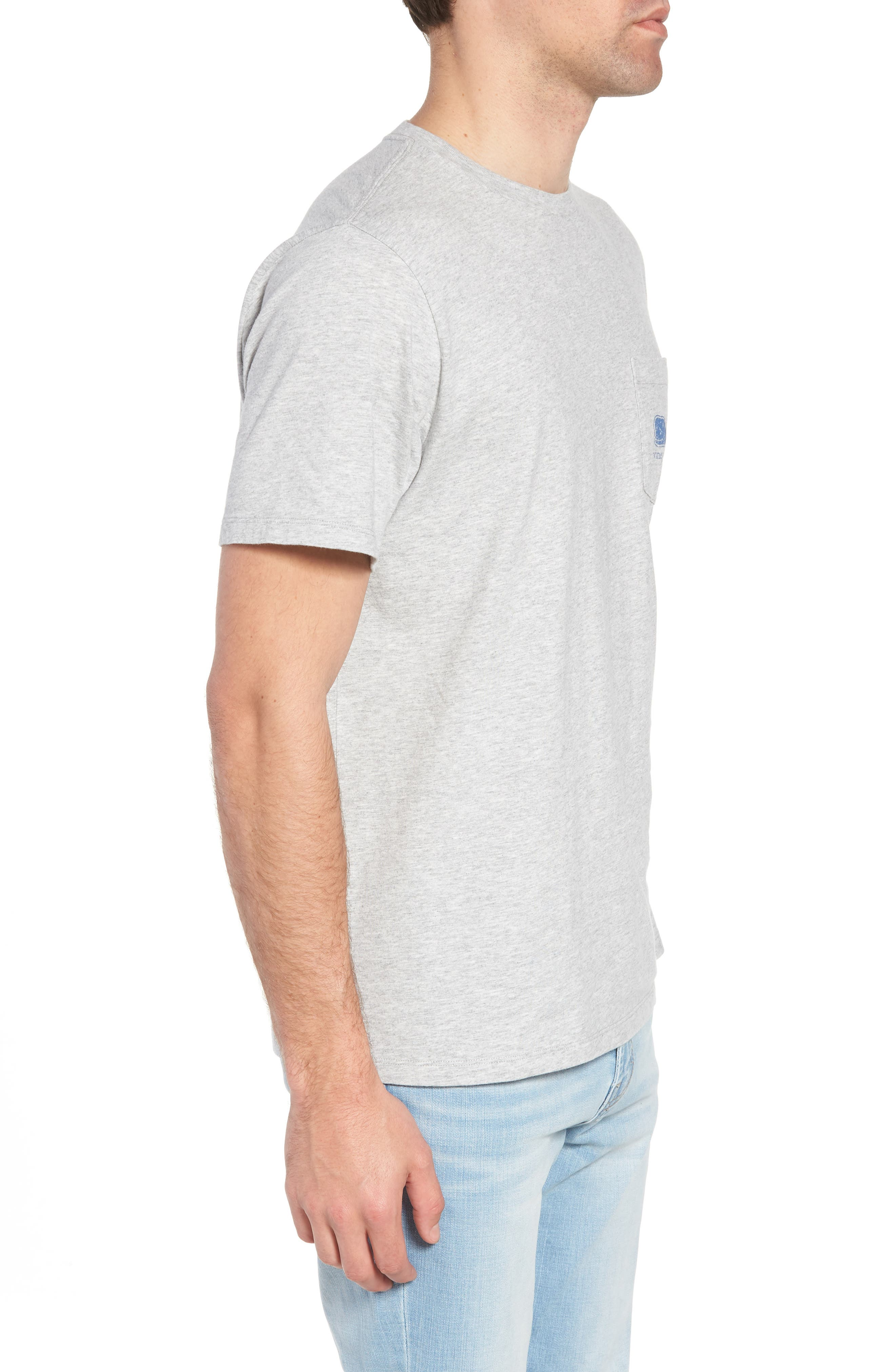 Whale Crewneck T-Shirt,                             Alternate thumbnail 3, color,                             GREY HEATHER