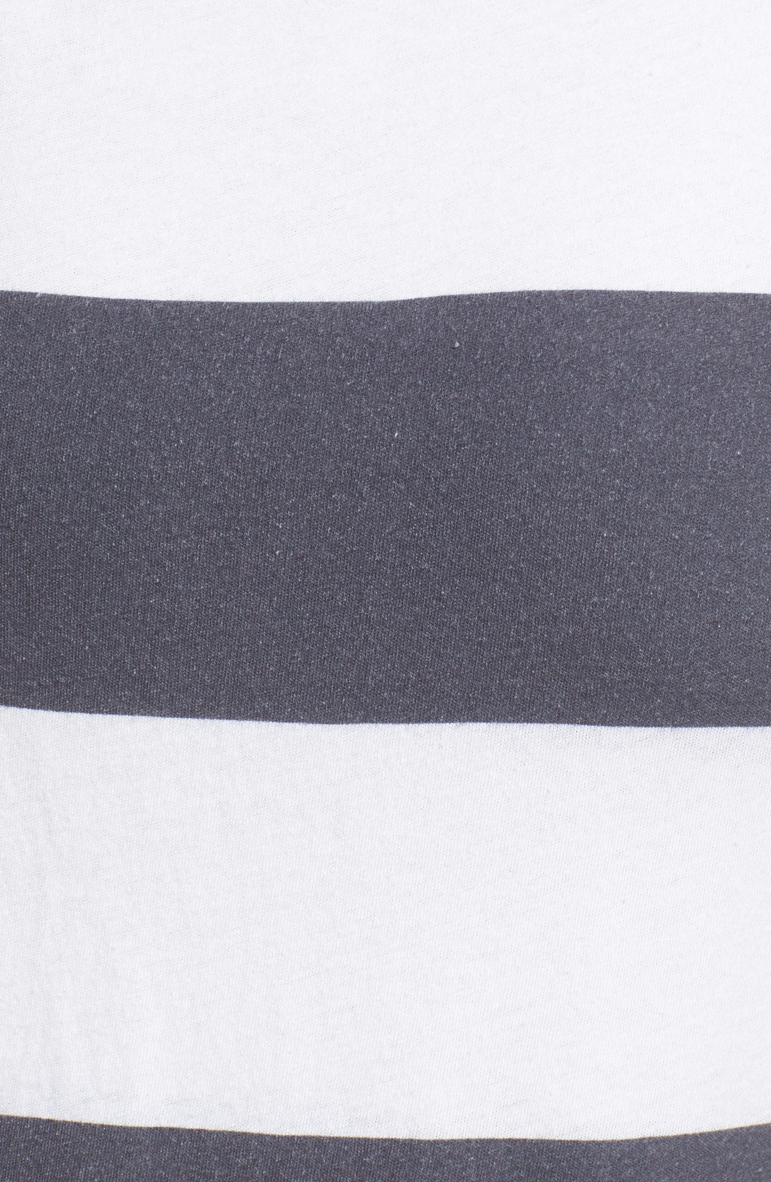 Stripe Asymmetrical Skirt,                             Alternate thumbnail 5, color,                             020