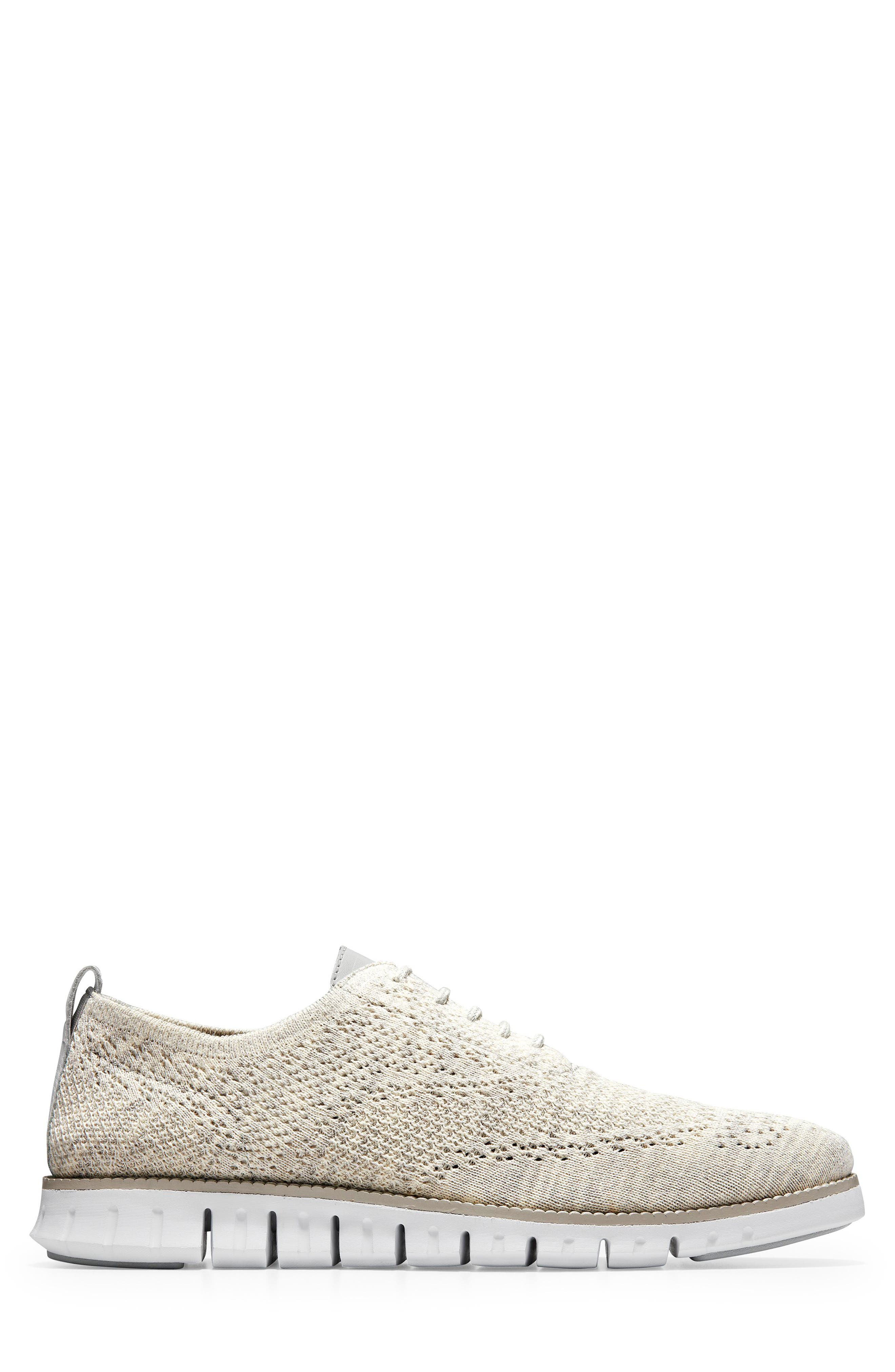 ZeroGrand Stitchlite Woven Wool Wingtip,                             Alternate thumbnail 3, color,                             HARBOR MIST KNIT