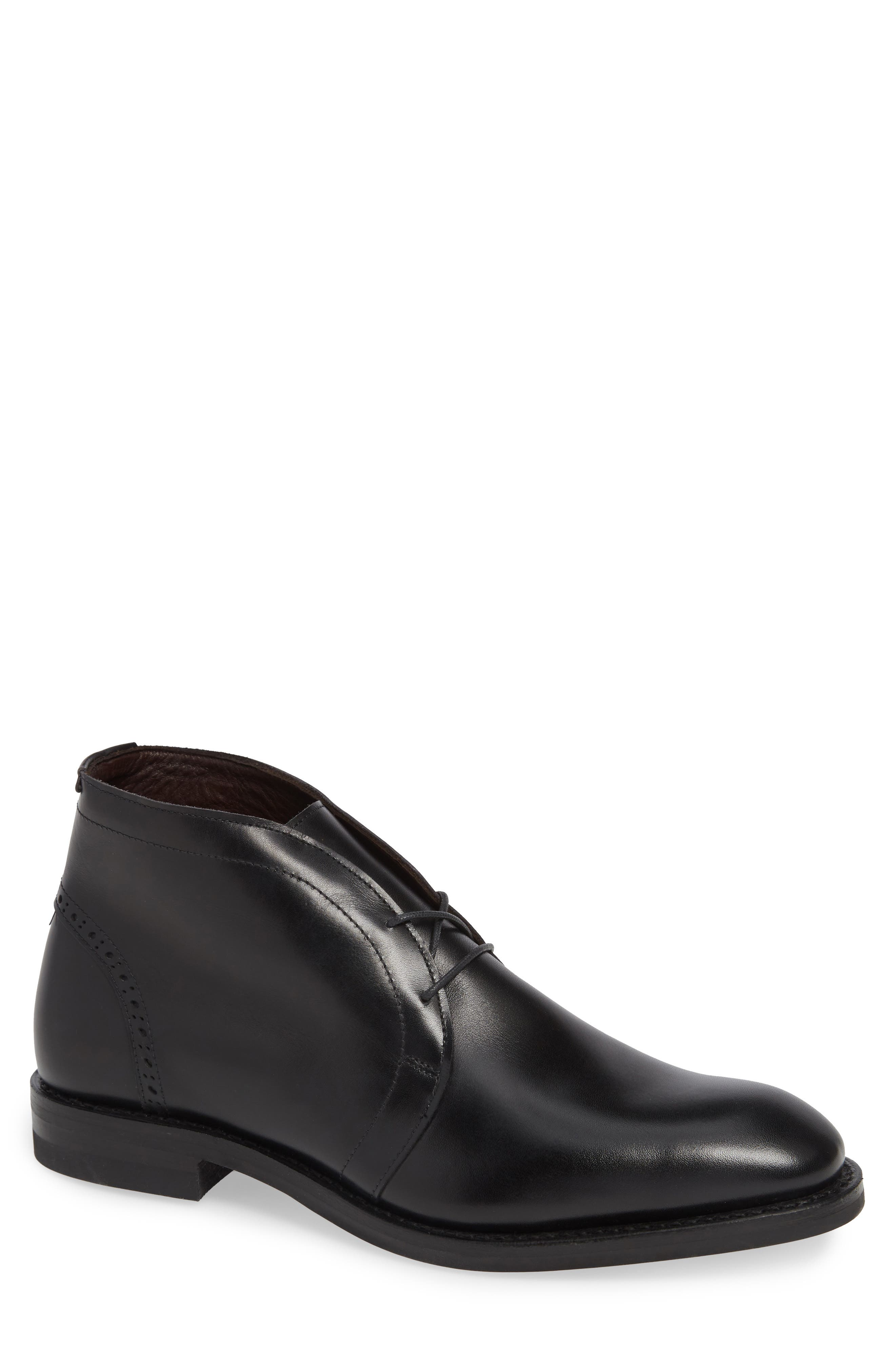 Renton Chukka Boot,                         Main,                         color, BLACK LEATHER