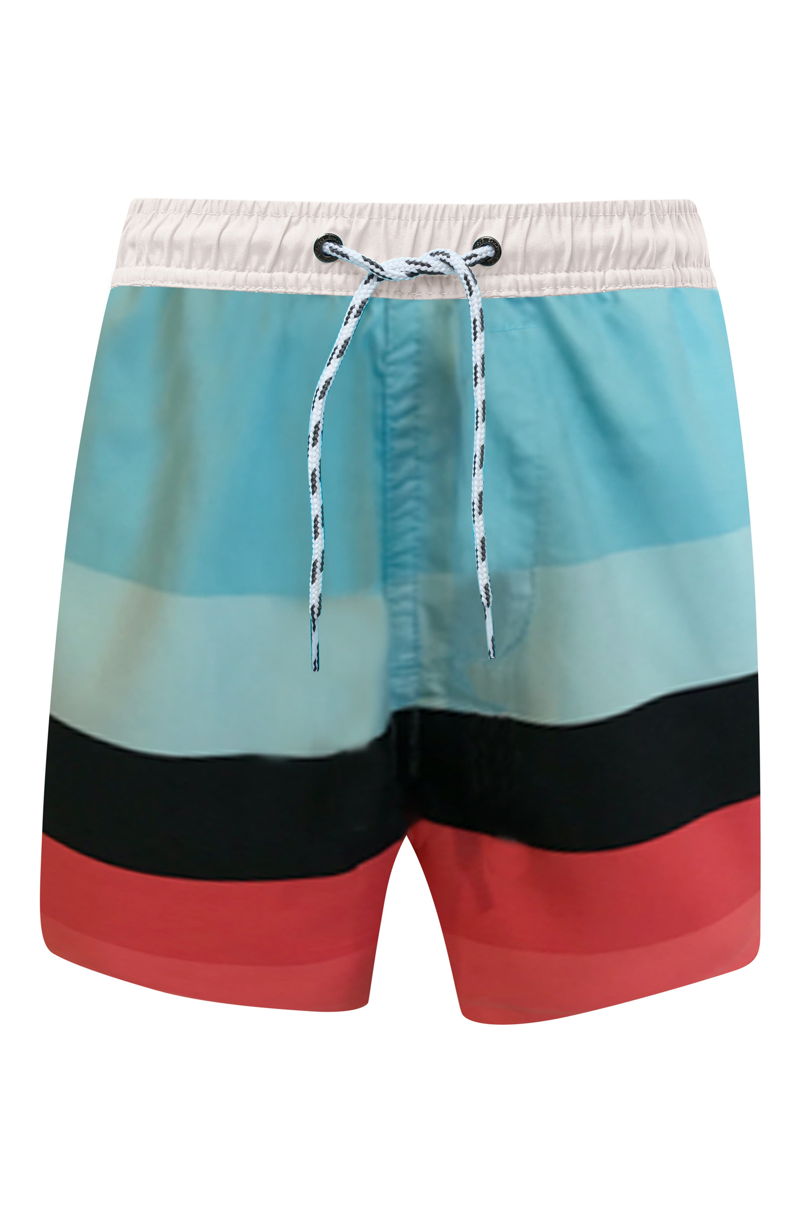 Surf Stripe Board Shorts,                             Main thumbnail 1, color,                             OPEN BLUE