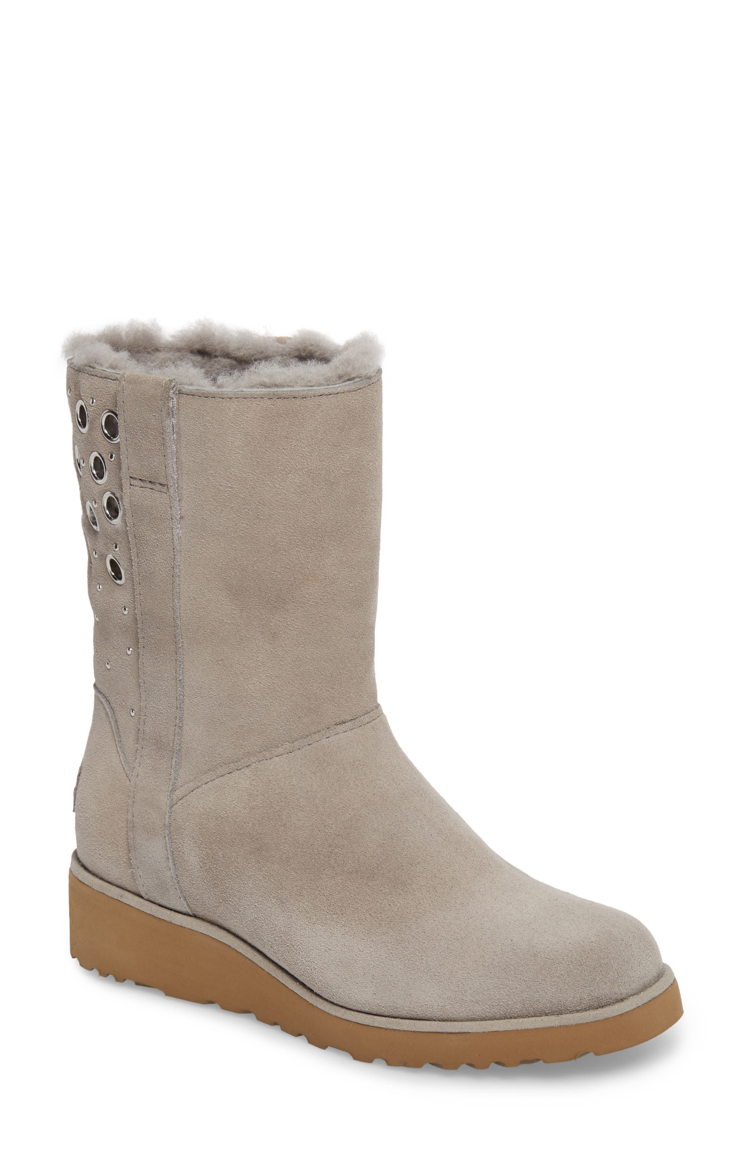 Madison Grommet Wedge Boot,                             Main thumbnail 2, color,