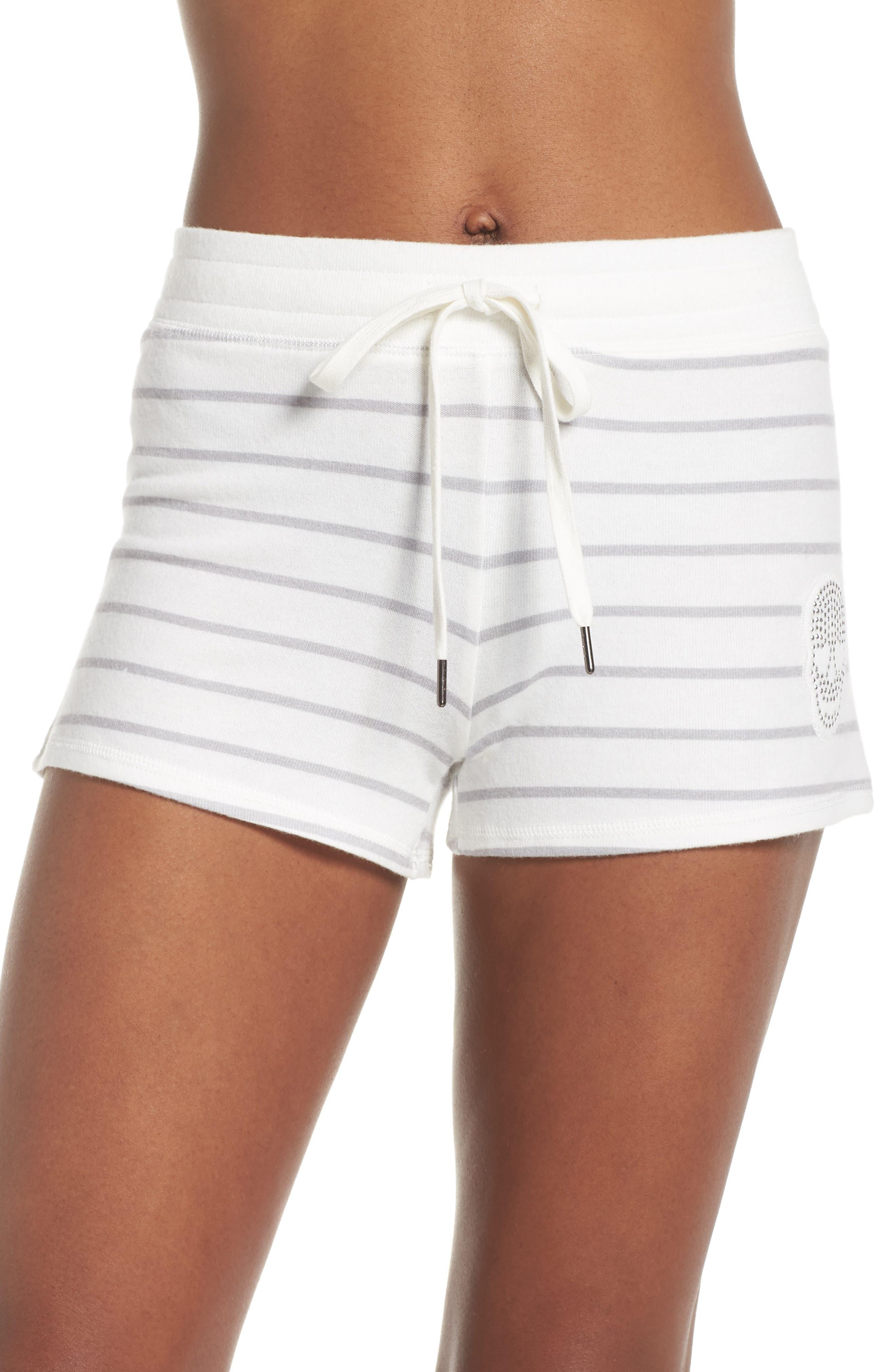 Skull Stripe Lounge Shorts,                         Main,                         color, NATURAL