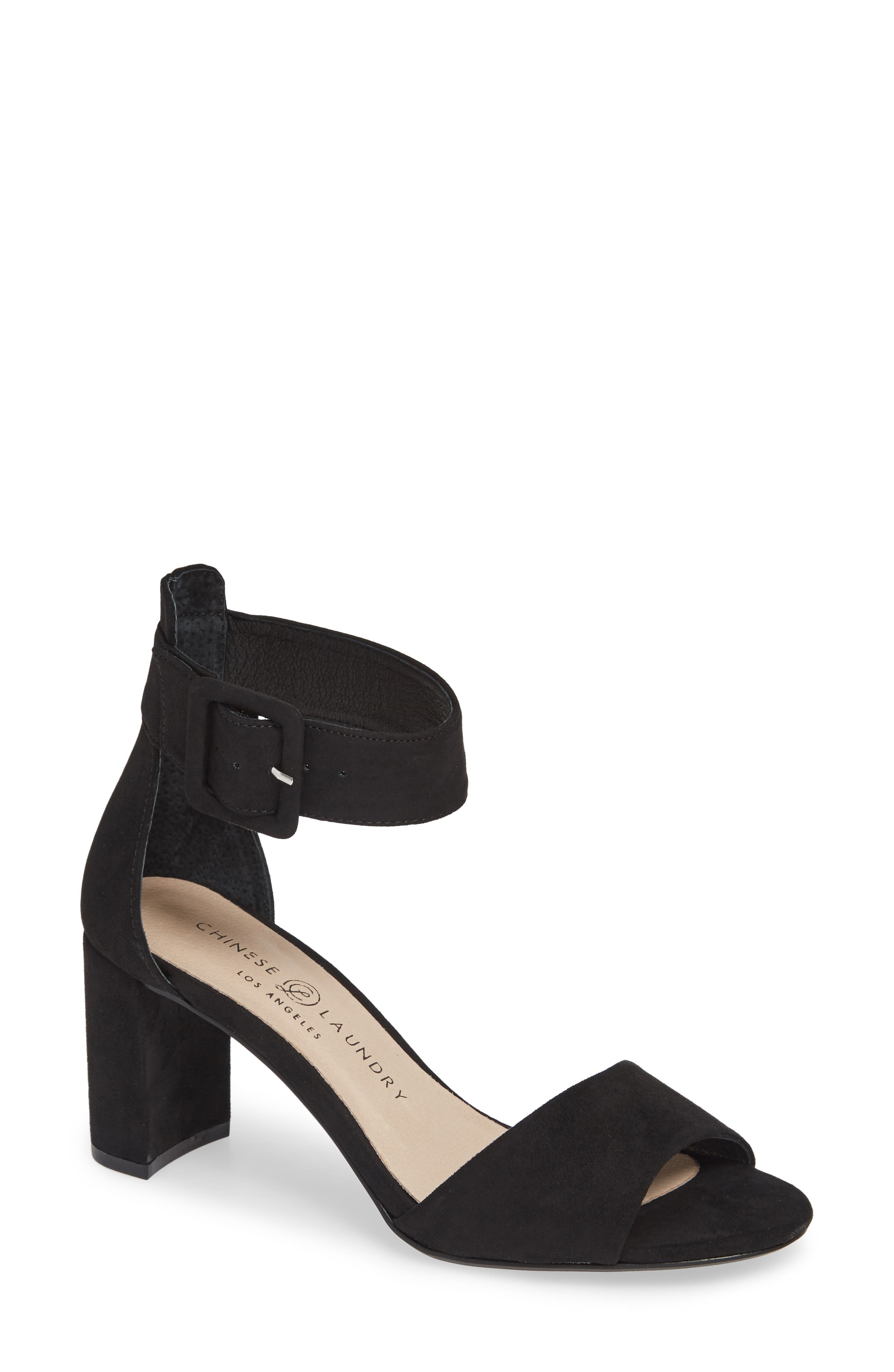 CHINESE LAUNDRY,                             Rumor Sandal,                             Main thumbnail 1, color,                             BLACK SUEDE