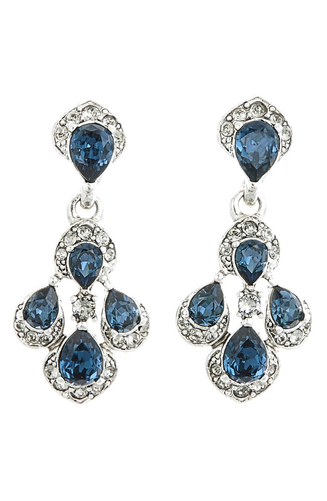 Parlor Crystal Earrings,                             Main thumbnail 1, color,                             400