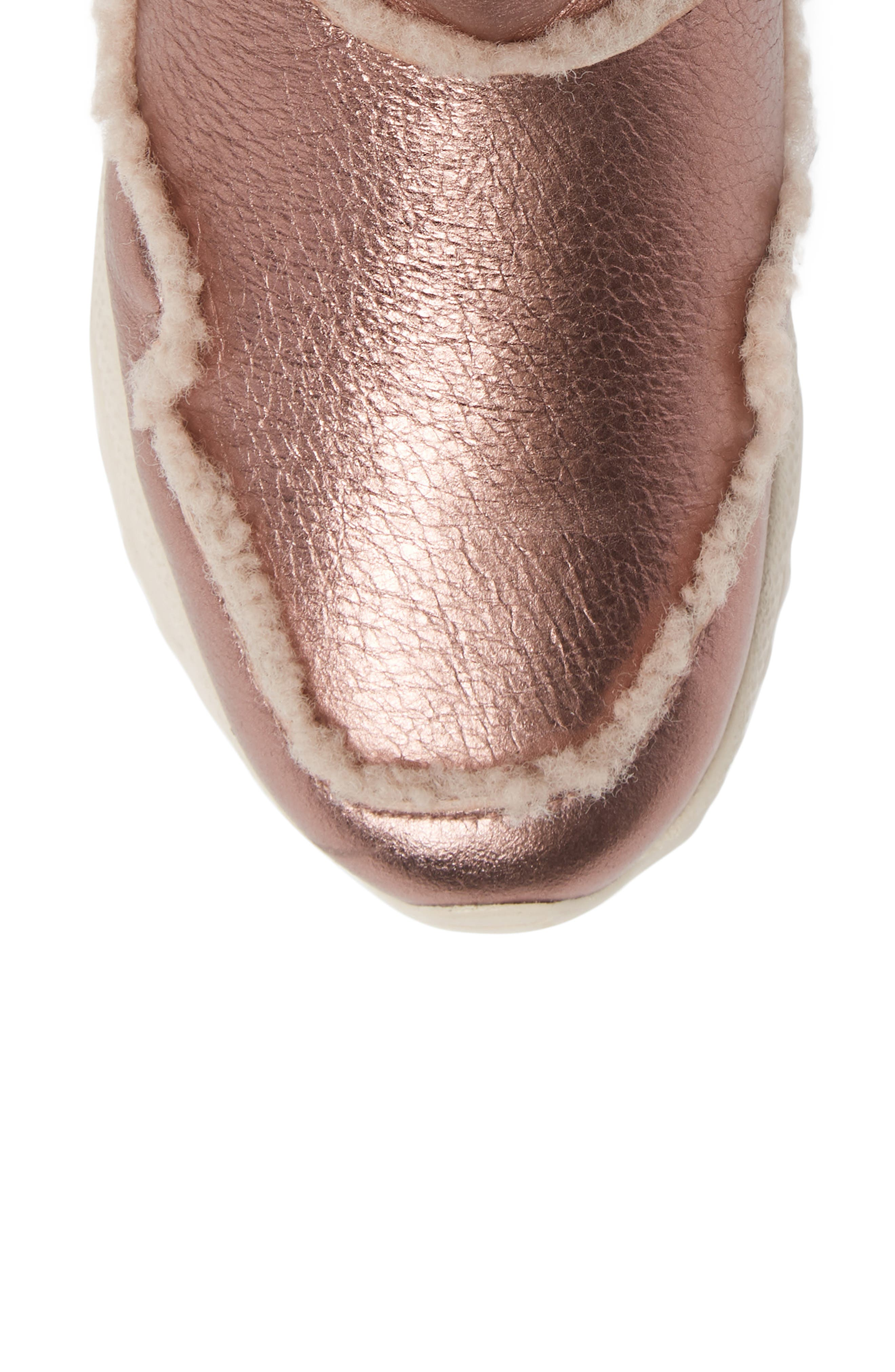 COACH,                             Portia Genuine Shearling Bootie,                             Alternate thumbnail 5, color,                             PINK