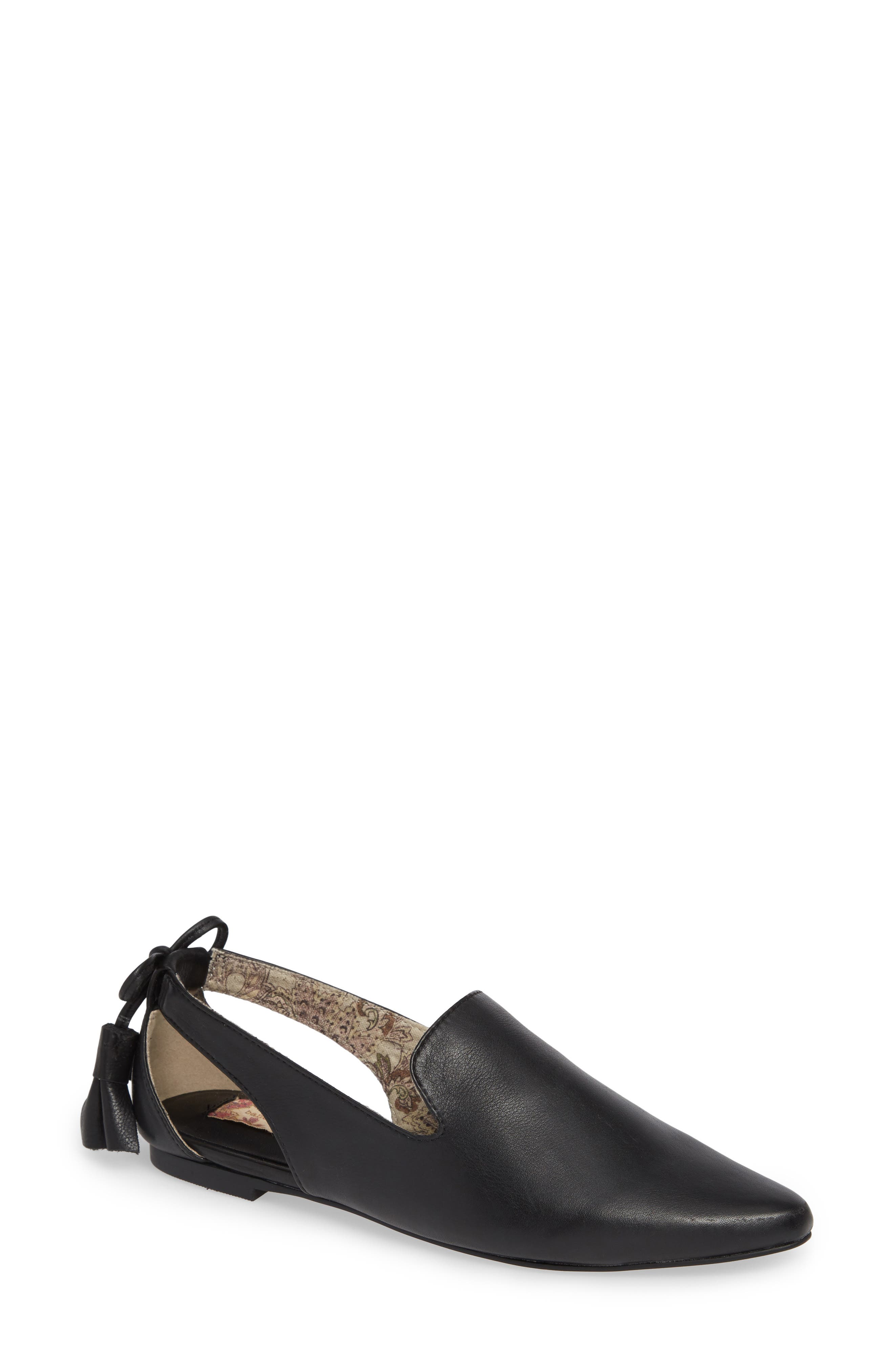 Songbird Loafer,                             Main thumbnail 1, color,                             BLACK LEATHER
