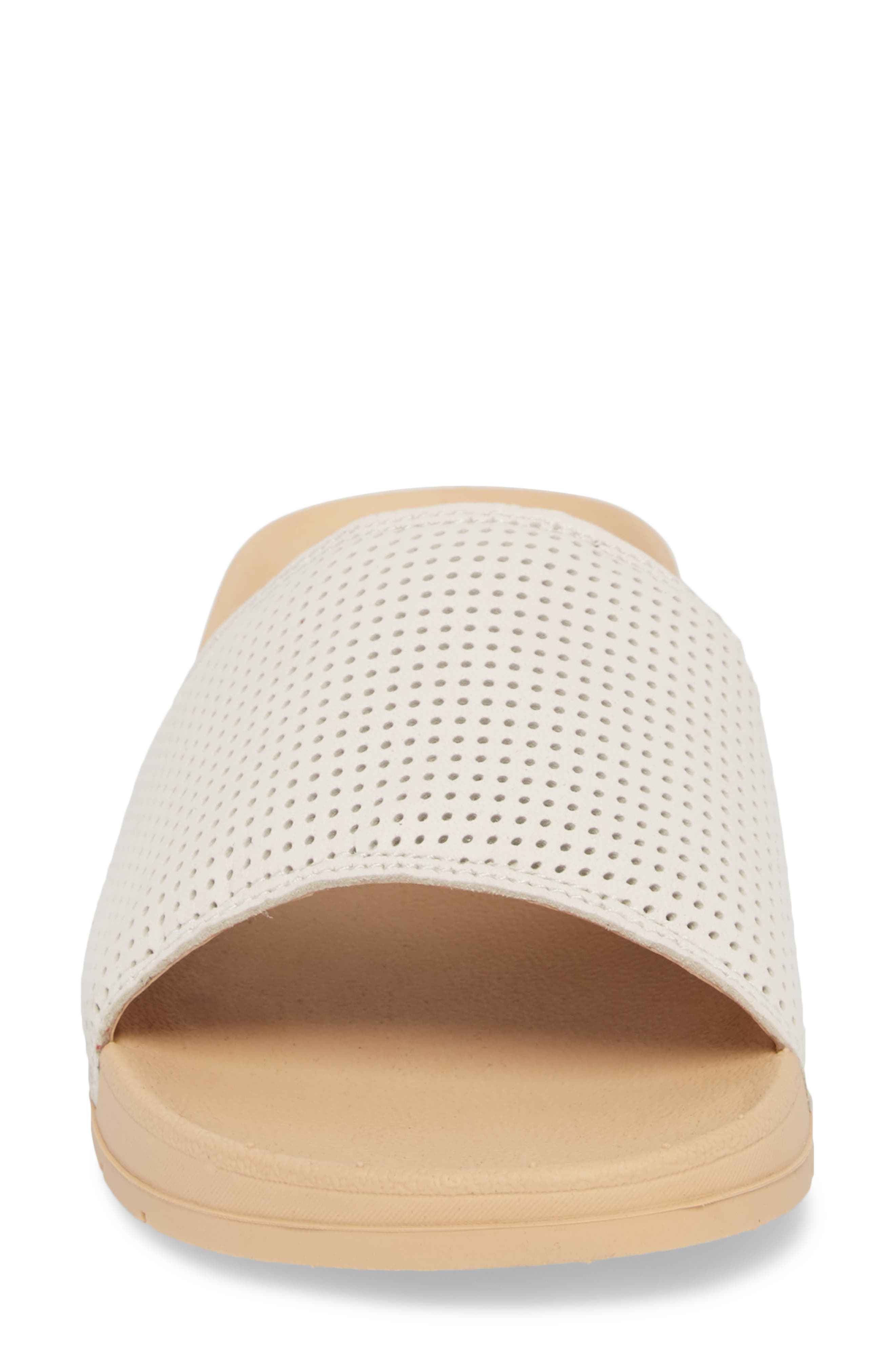 x Designlovefest Bliss Slide Sandal,                             Alternate thumbnail 4, color,                             CREAM/ TAN