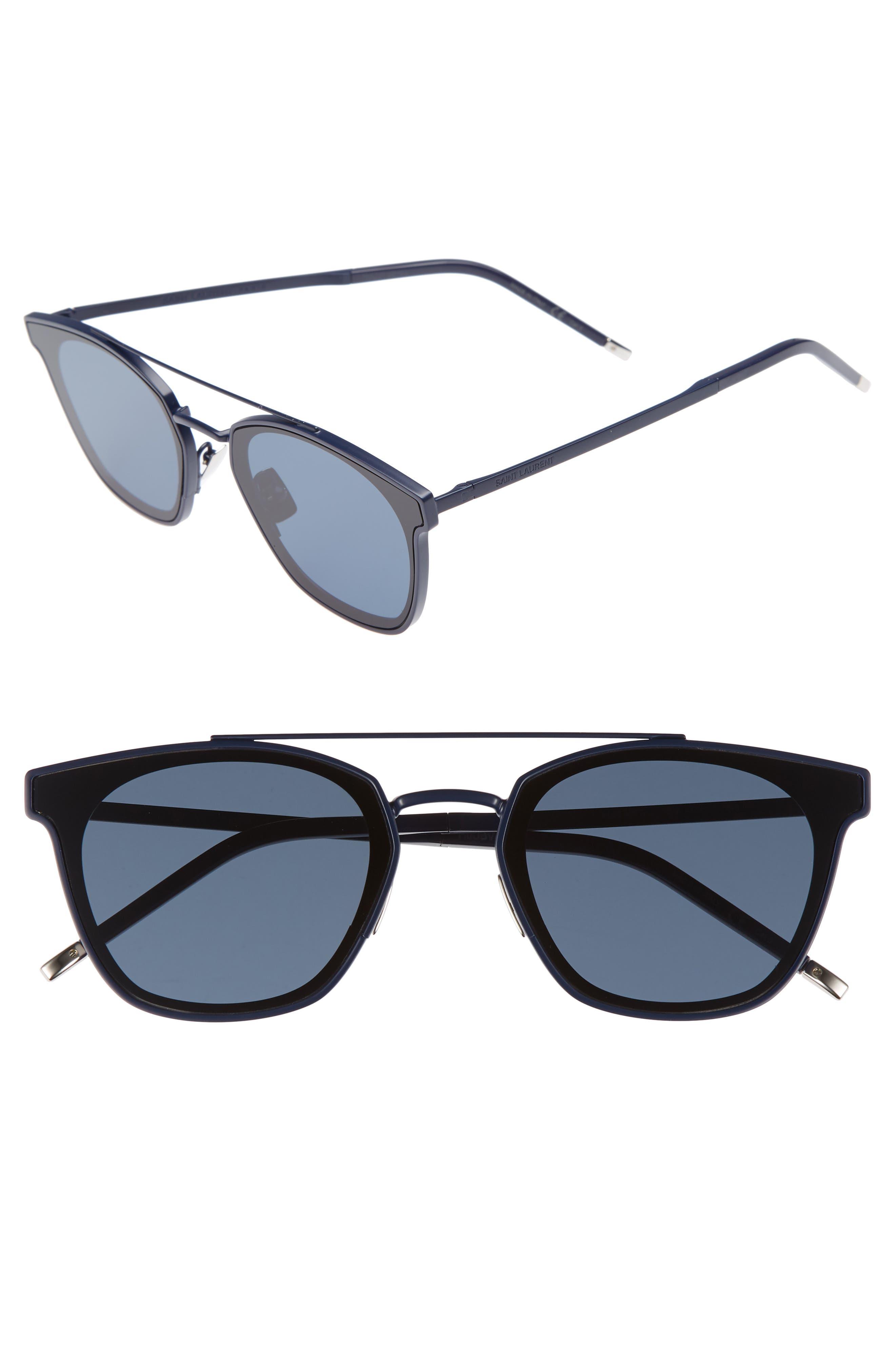SL 28 61mm Polarized Sunglasses,                         Main,                         color, BLUE