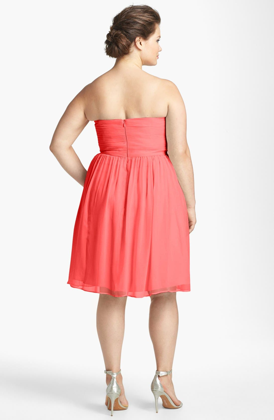 'Morgan' Strapless Silk Chiffon Dress,                             Alternate thumbnail 74, color,