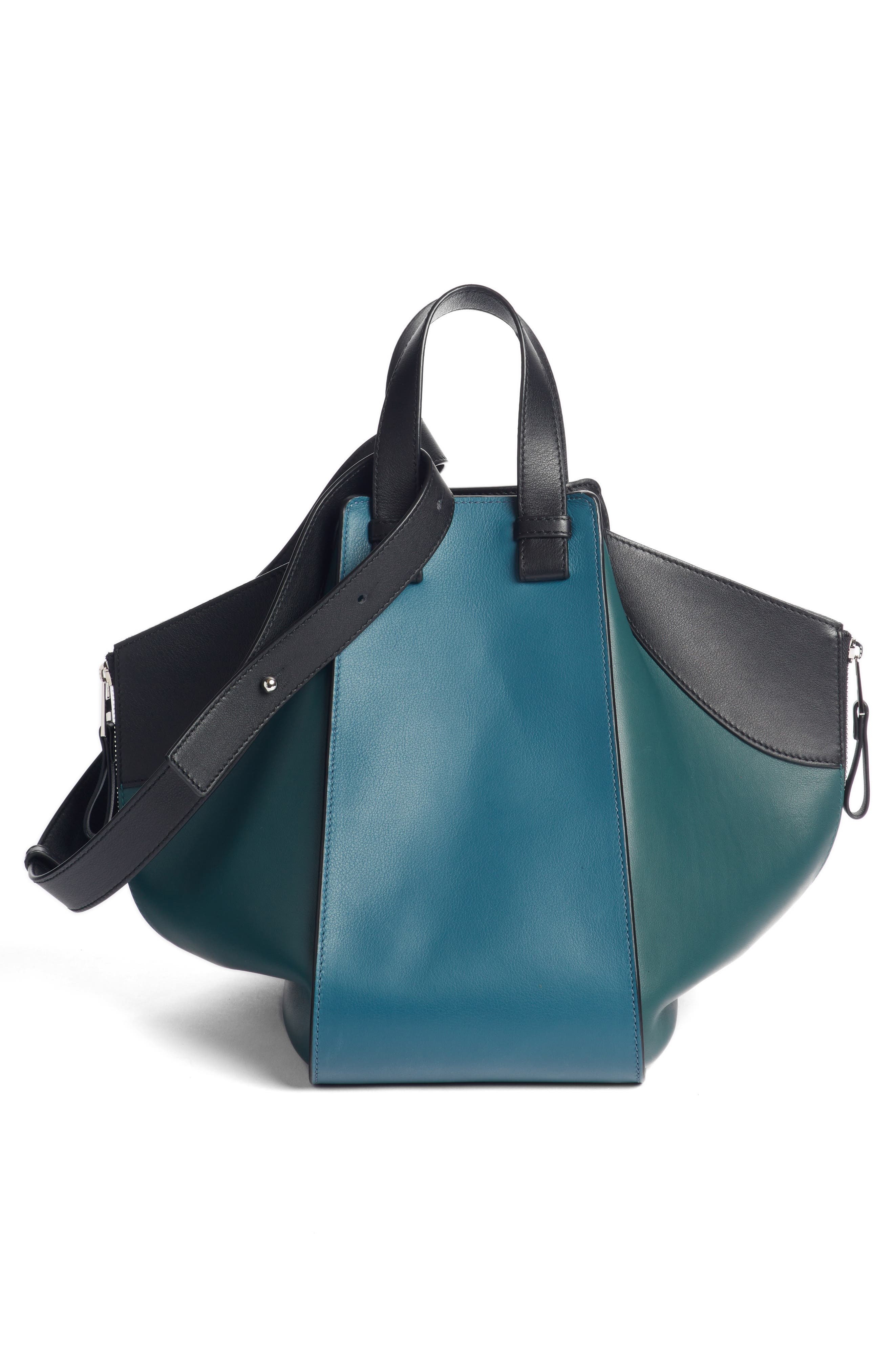 Small Hammock Tricolor Pebbled Leather Hobo,                             Alternate thumbnail 3, color,                             405