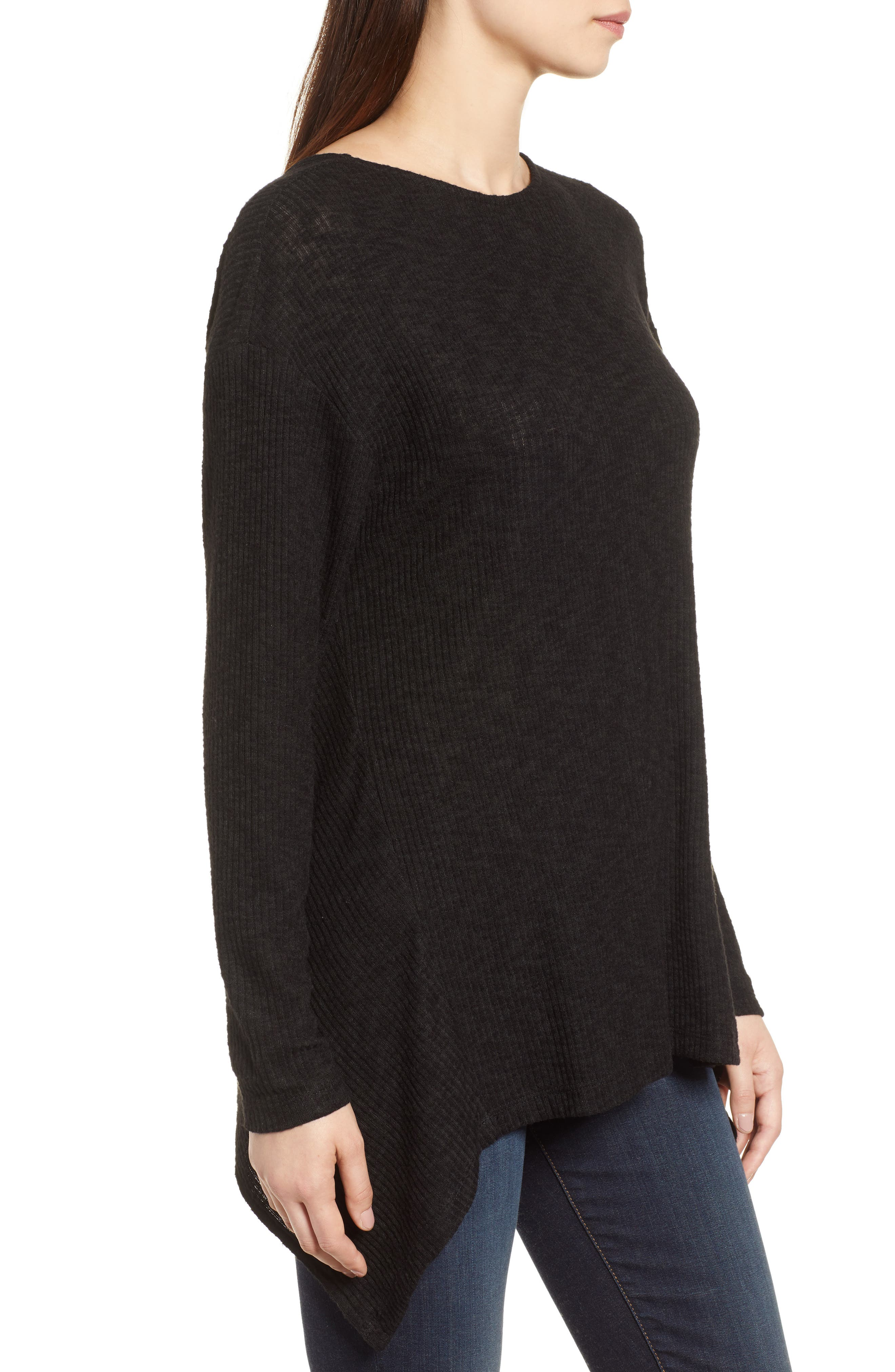 Ribbed Cozy Fleece Twist Back Top,                             Alternate thumbnail 9, color,