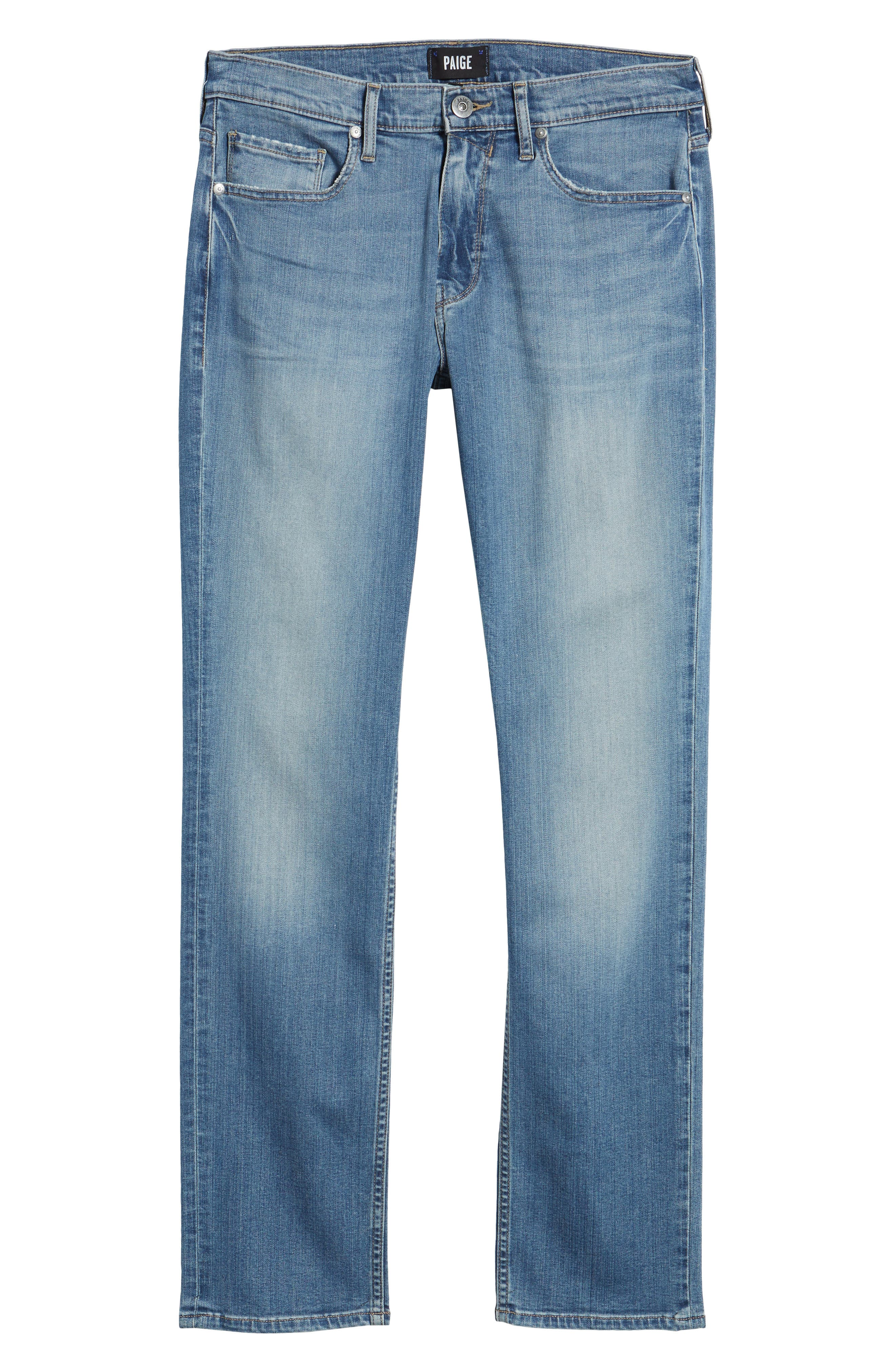 Transcend - Federal Slim Straight Fit Jeans,                             Alternate thumbnail 6, color,                             400