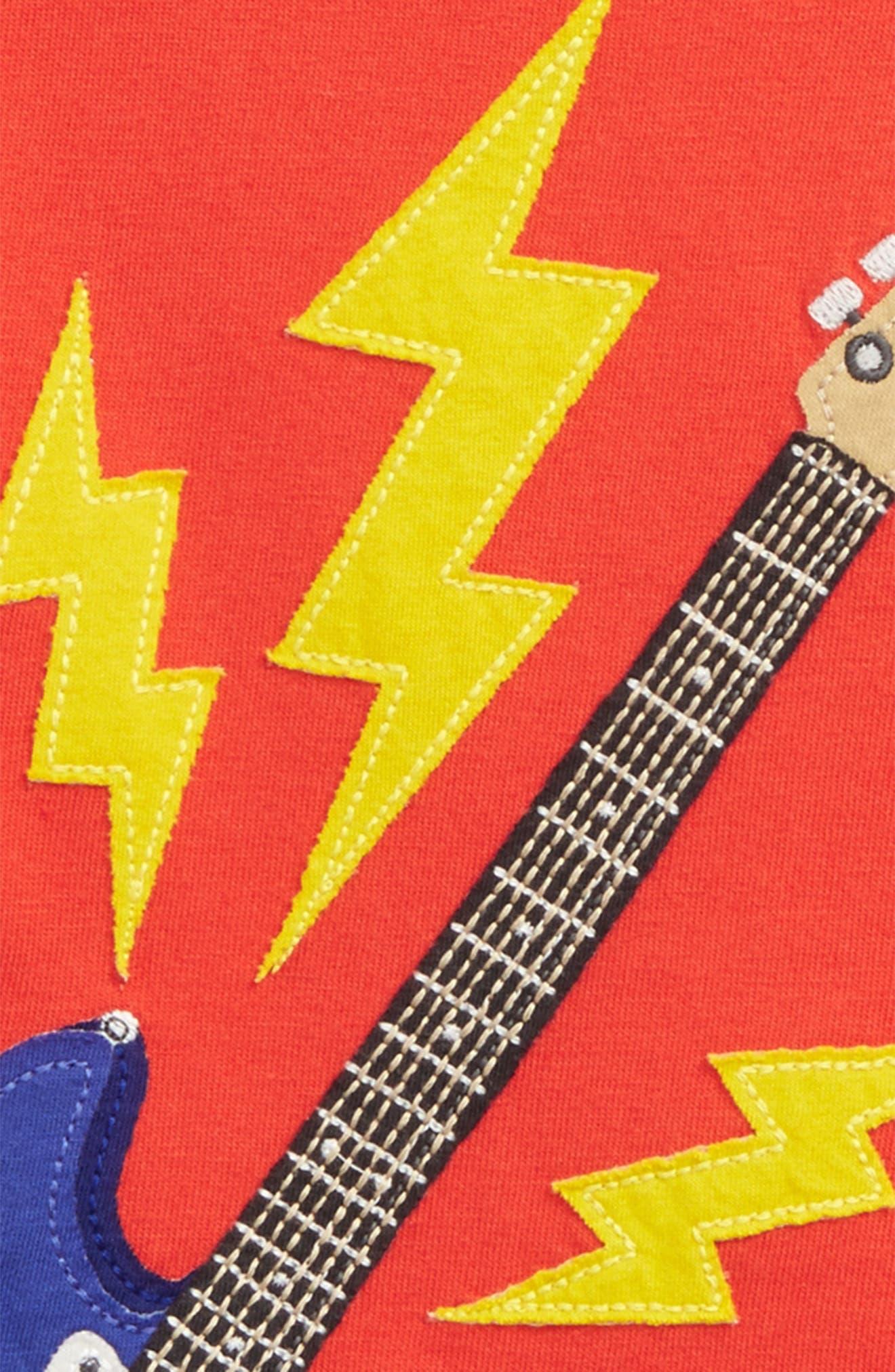 Music Appliqué T-Shirt,                             Alternate thumbnail 2, color,