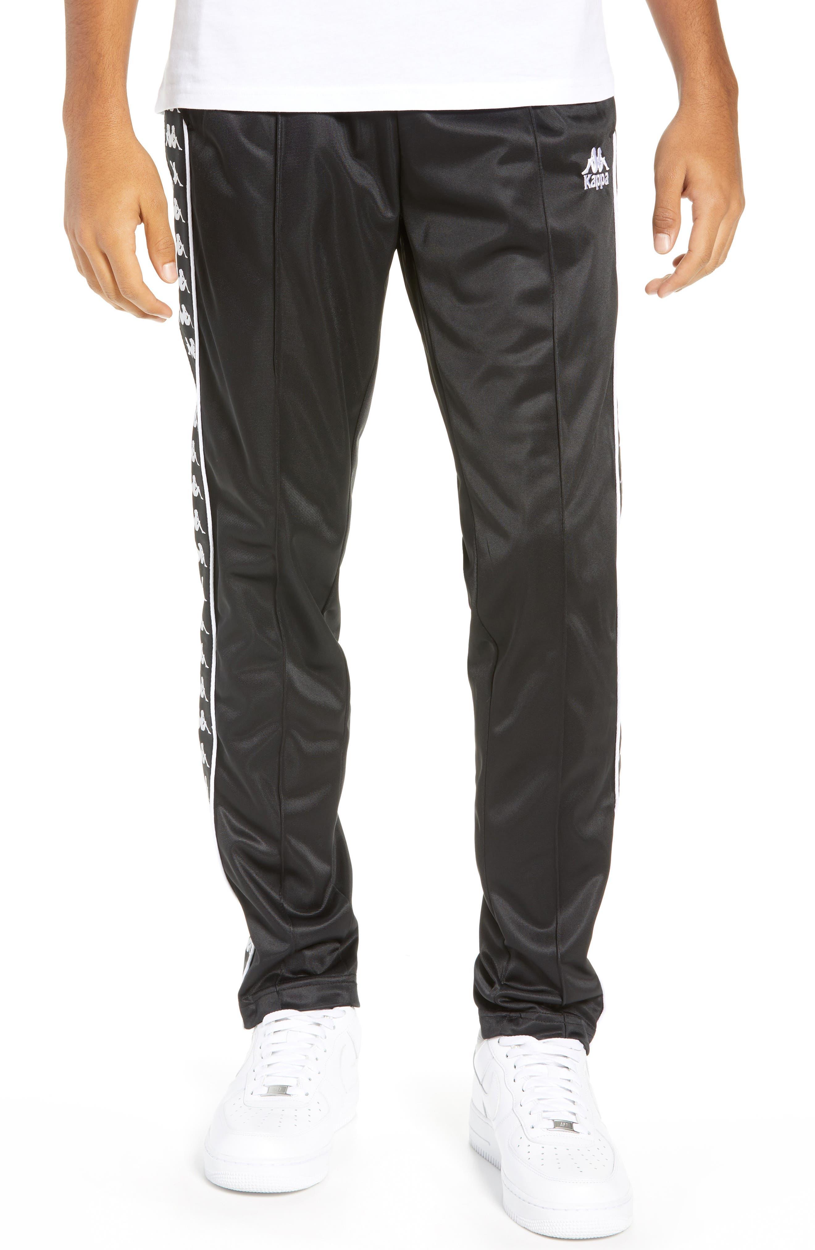 Authentic Fairfax Side Stripe Slim Track Pants,                         Main,                         color, BLACK/ WHITE