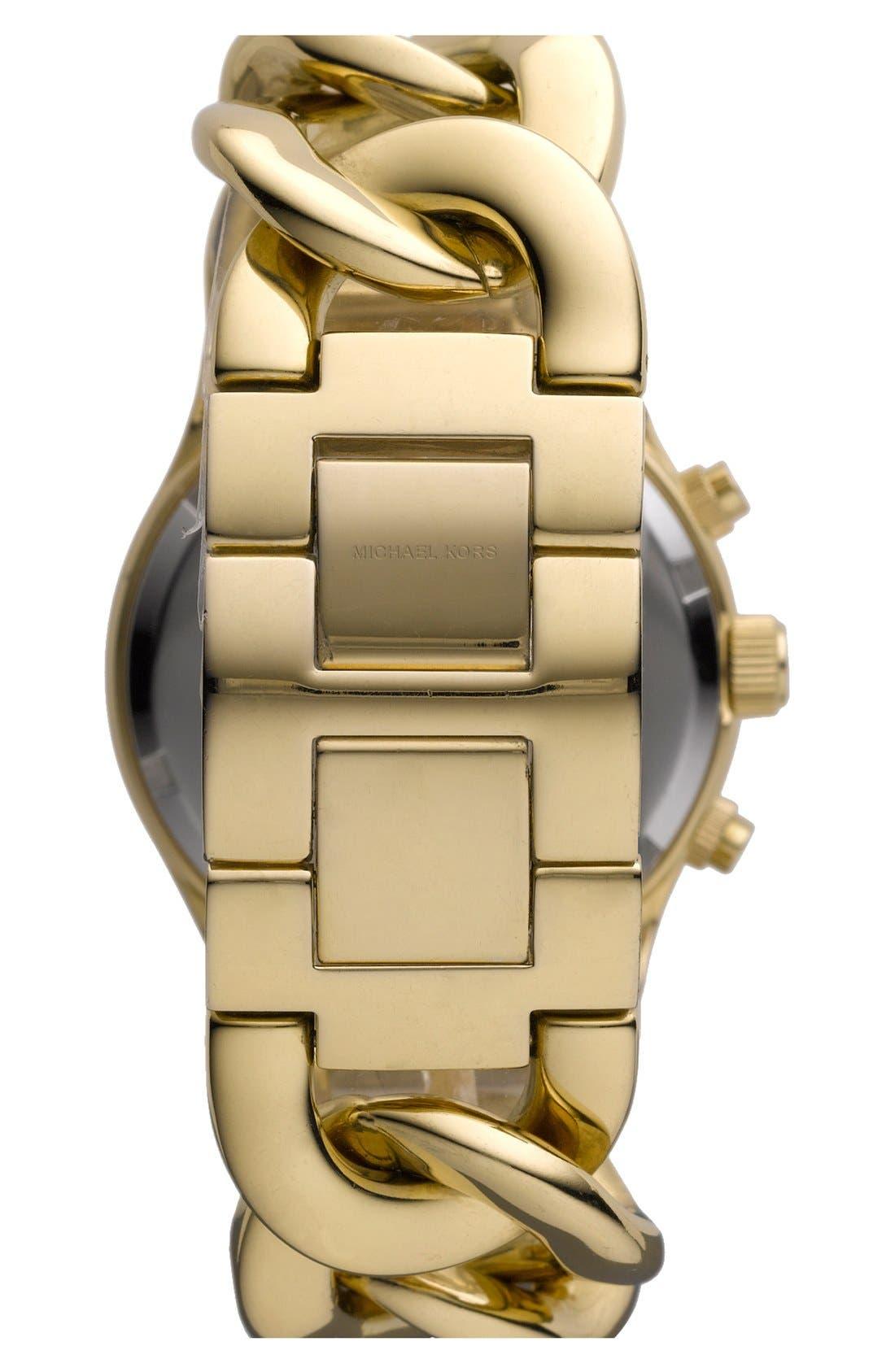 Michael Kors Chain Bracelet Chronograph Watch, 38mm,                             Alternate thumbnail 16, color,