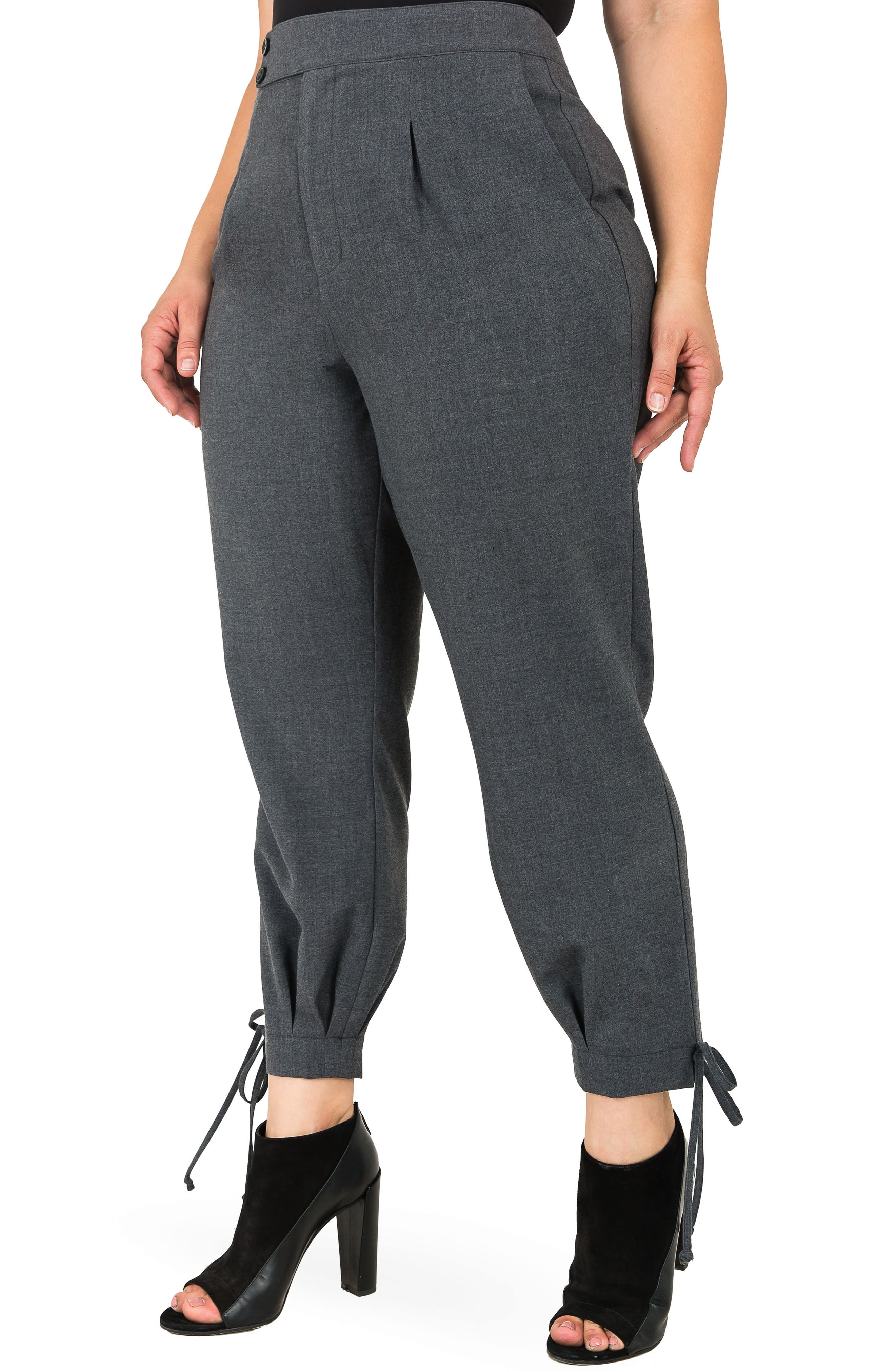 Robie Suiting Skinny Trousers,                             Alternate thumbnail 3, color,                             CHARCOAL