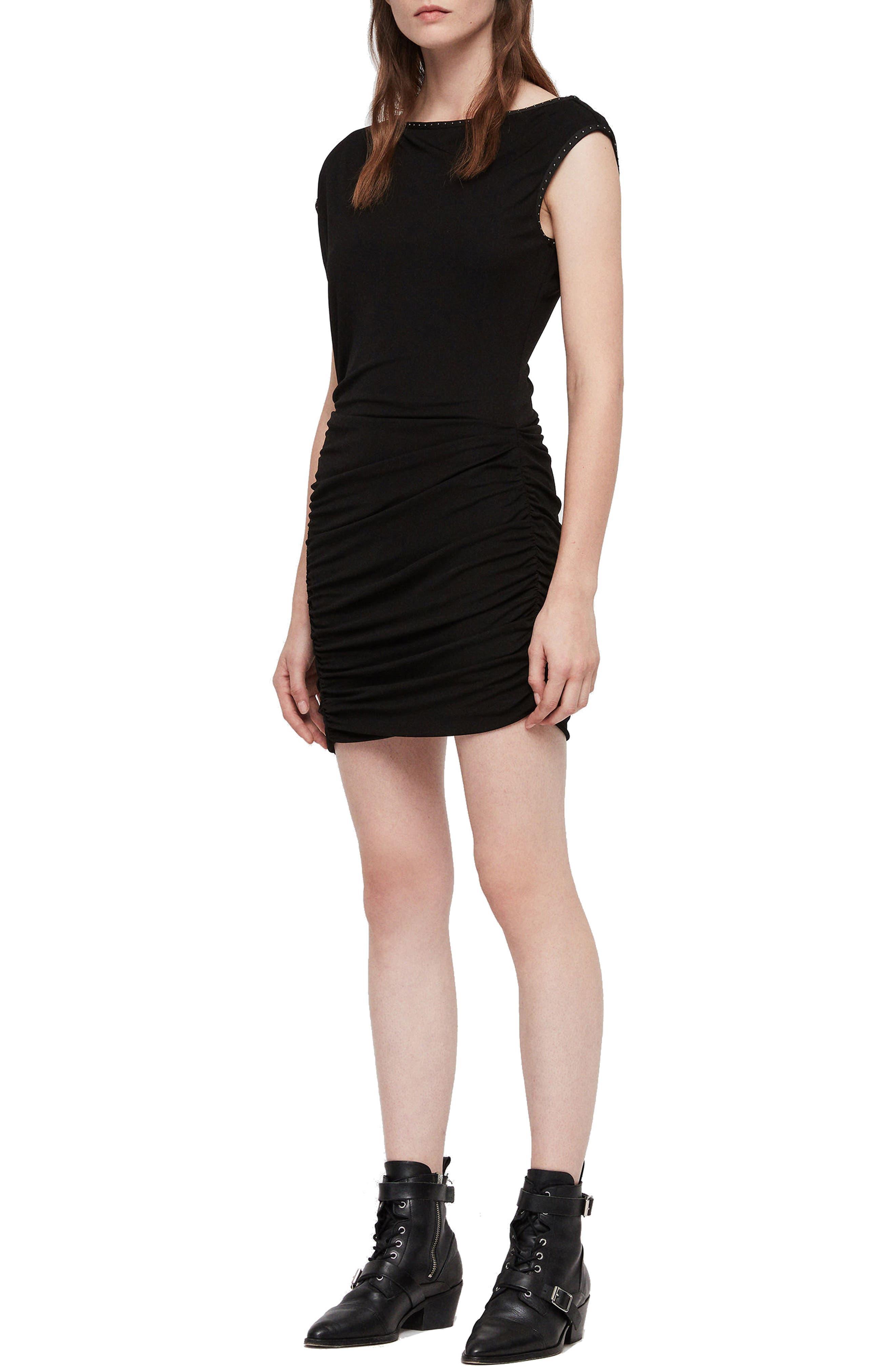 ALLSAINTS Mae Jersey Body-Con Dress in Black