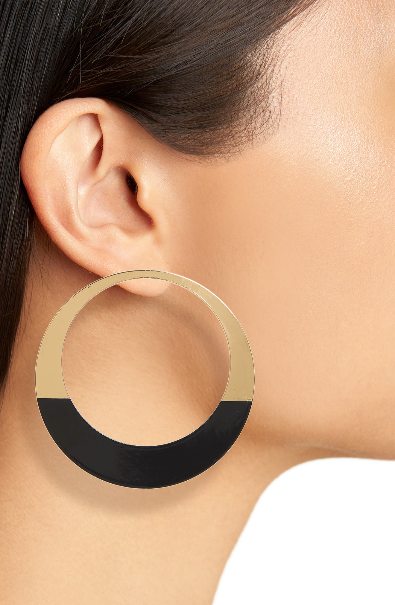 NATASHA COUTURE,                             Natasha Enameled Hoop Earrings,                             Alternate thumbnail 2, color,                             710