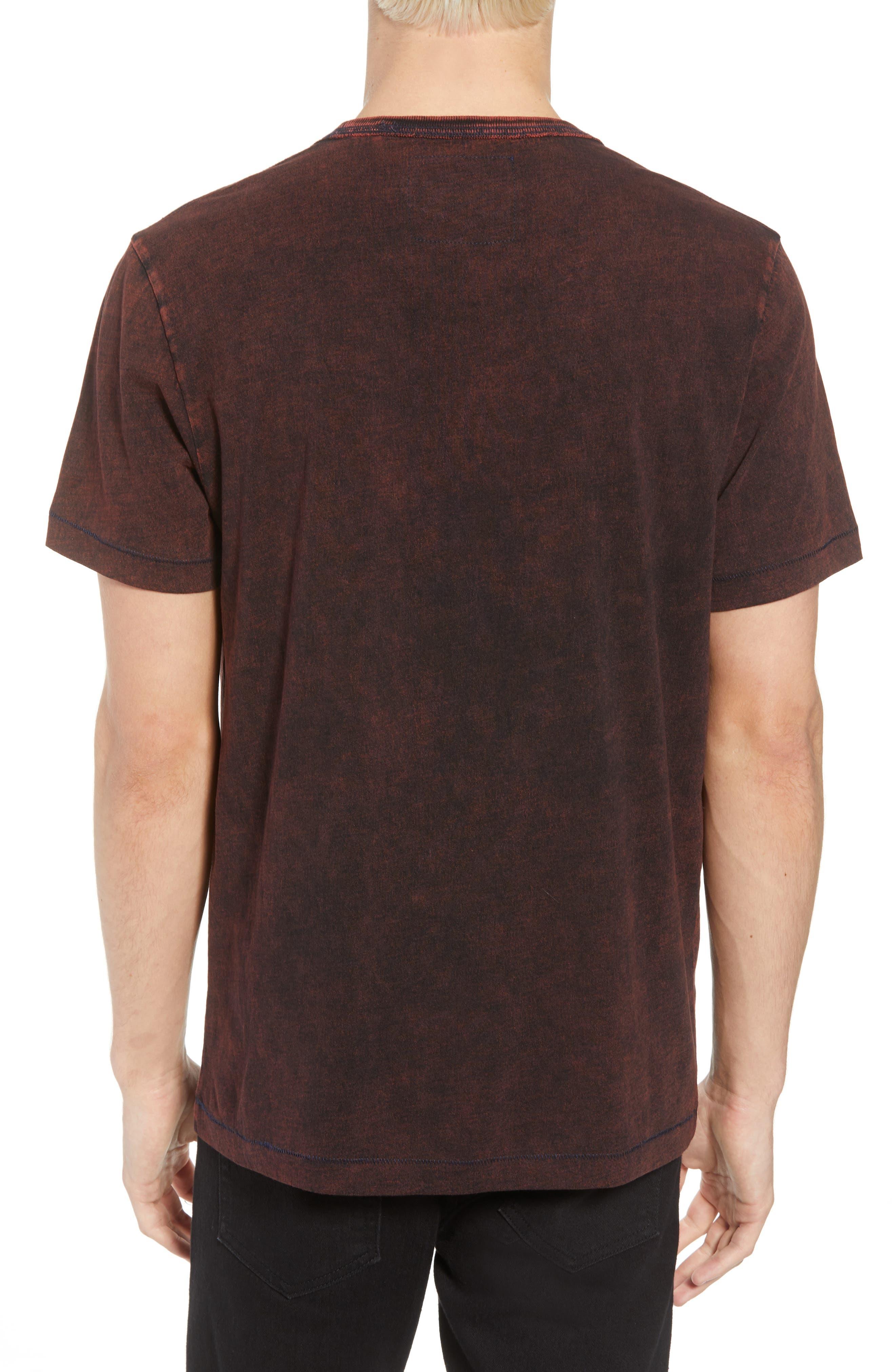 Washed Indigo Logo T-Shirt,                             Alternate thumbnail 2, color,                             INDIGO/ SUNBURST ORANGE COMBO