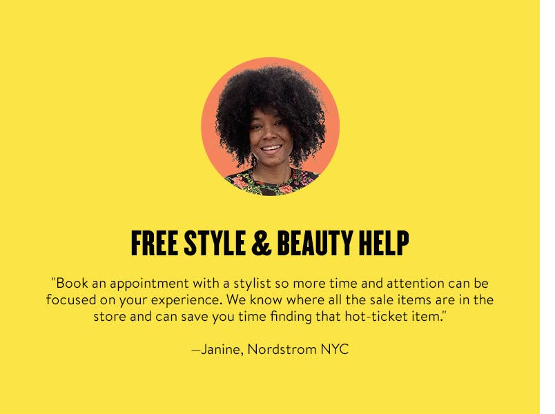 Free style and beauty help. Book an appointment.