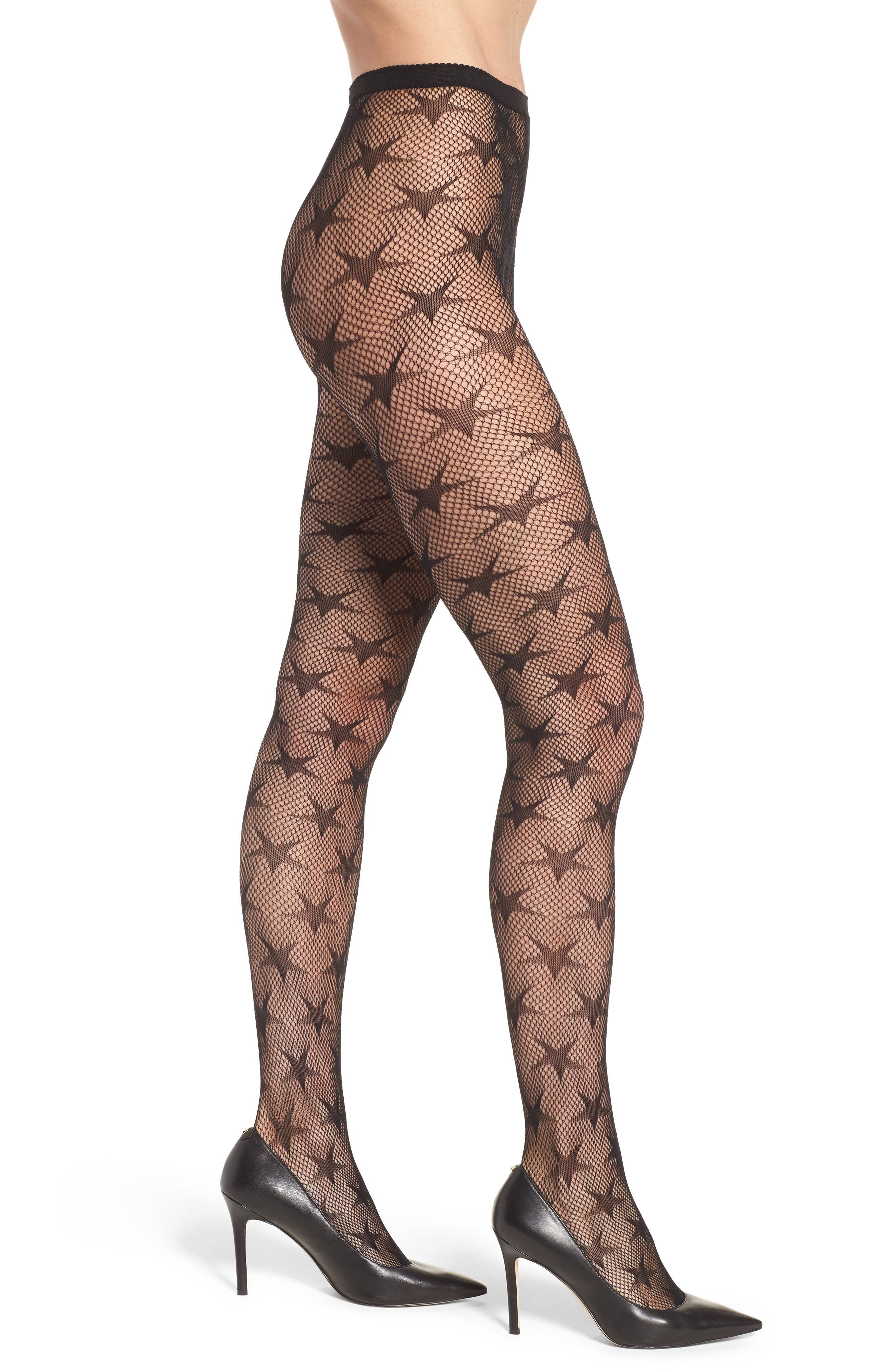 Star Net Tights,                         Main,                         color, 001