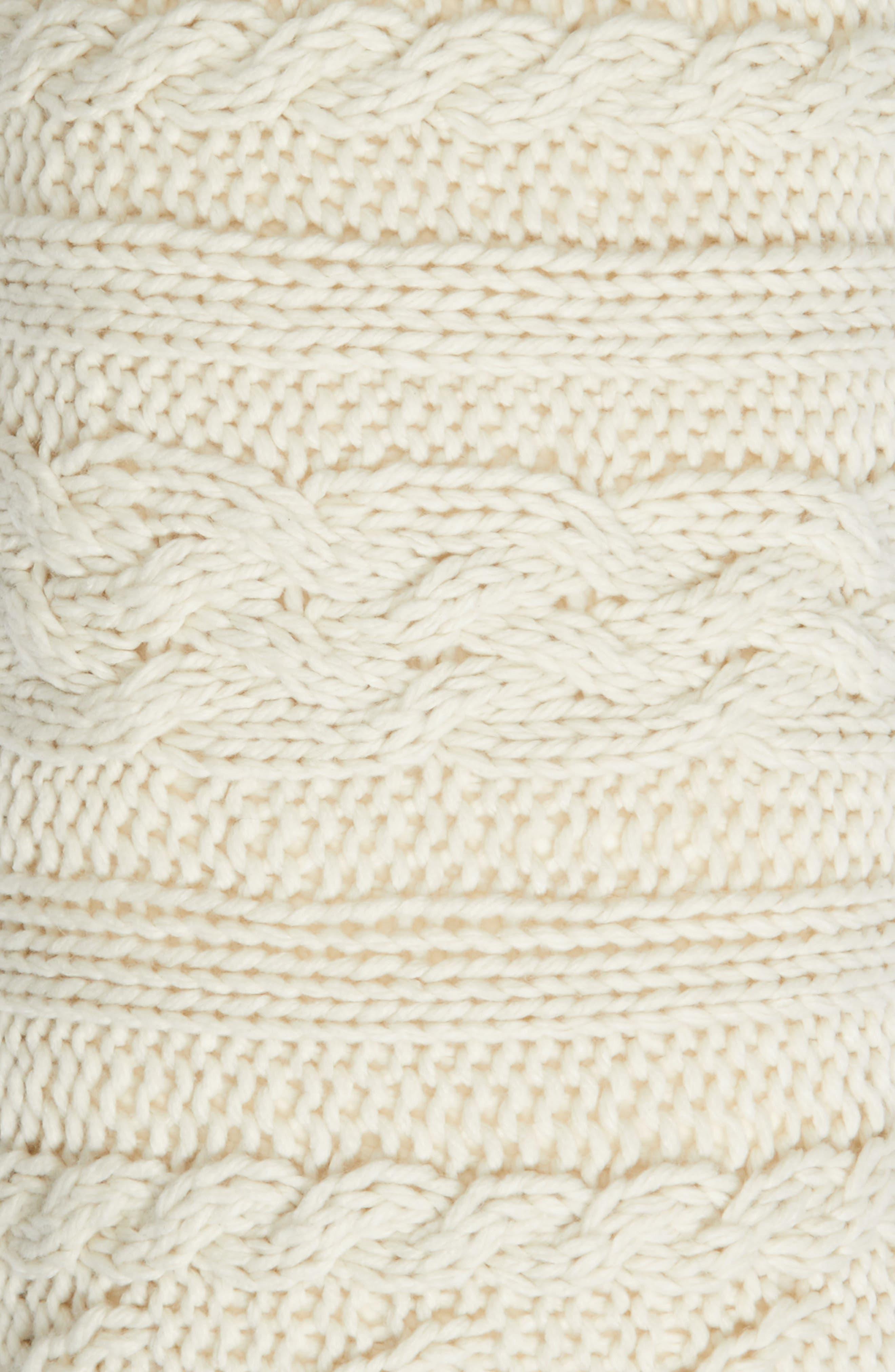 Cable Knit Accent Pillow,                             Alternate thumbnail 6, color,