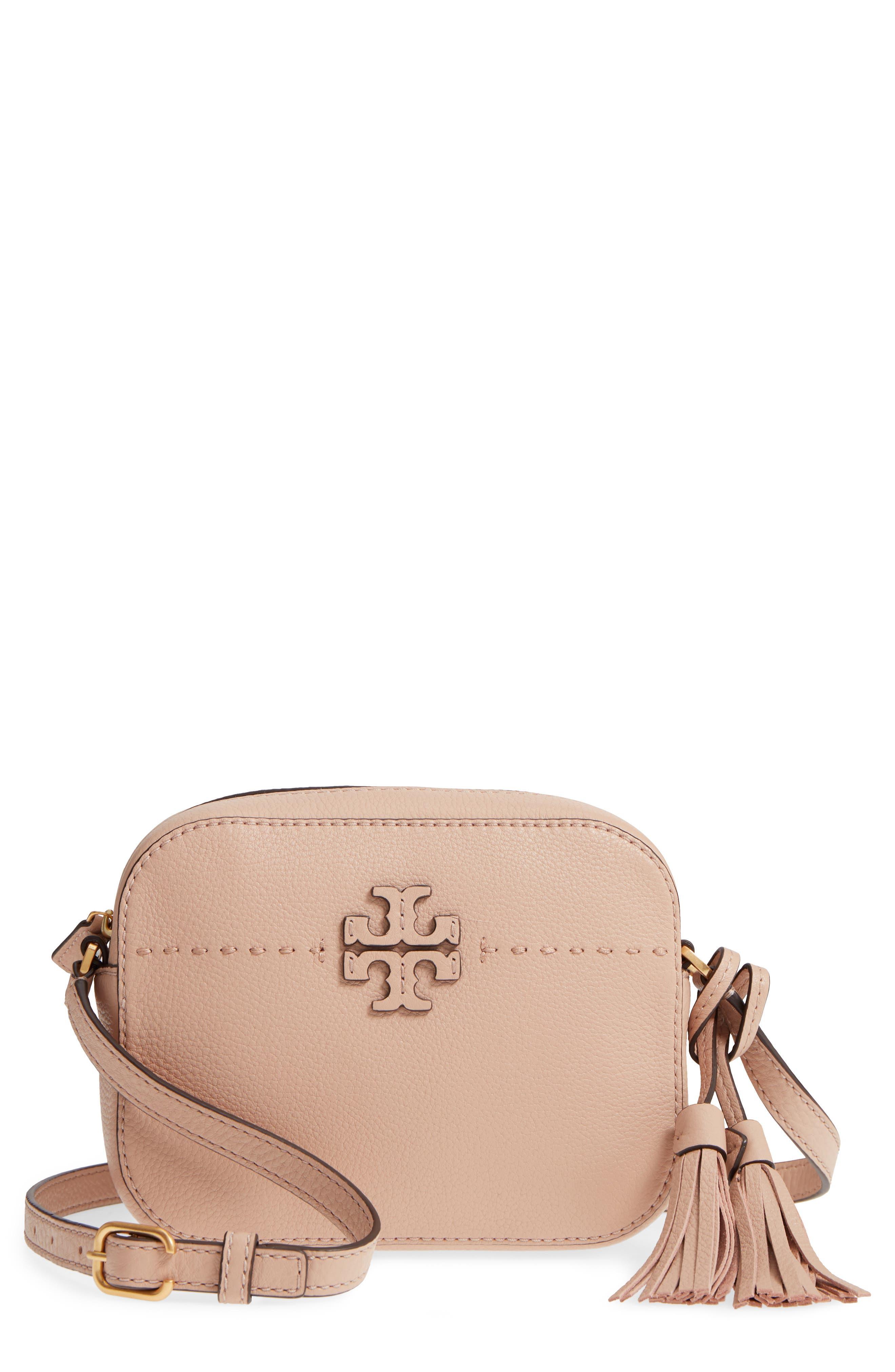 McGraw Leather Camera Bag,                         Main,                         color, DEVON SAND