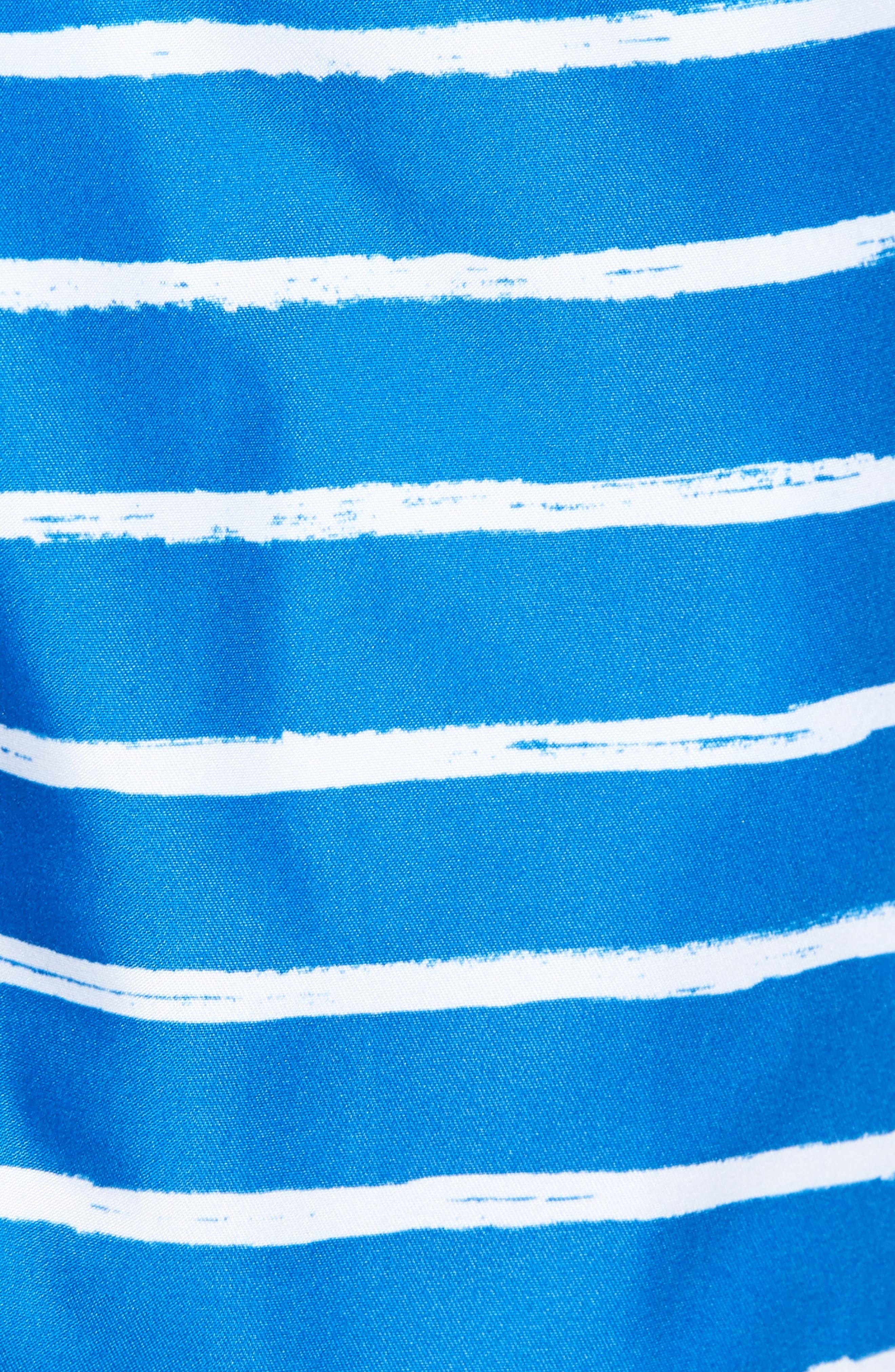 San O Stripe Swim Trunks,                             Alternate thumbnail 5, color,                             416