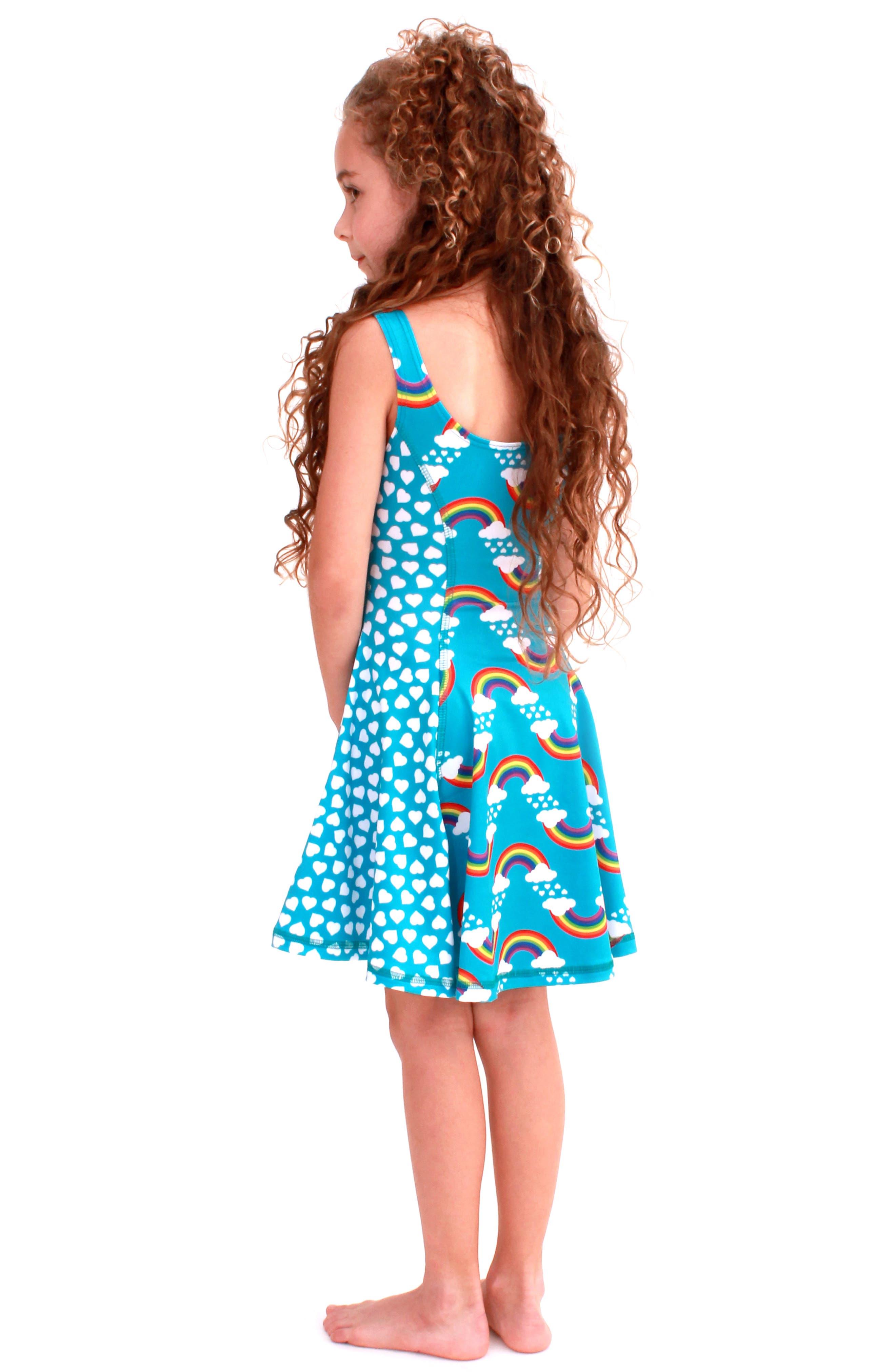 Flow Mixed Print Dress,                             Alternate thumbnail 23, color,