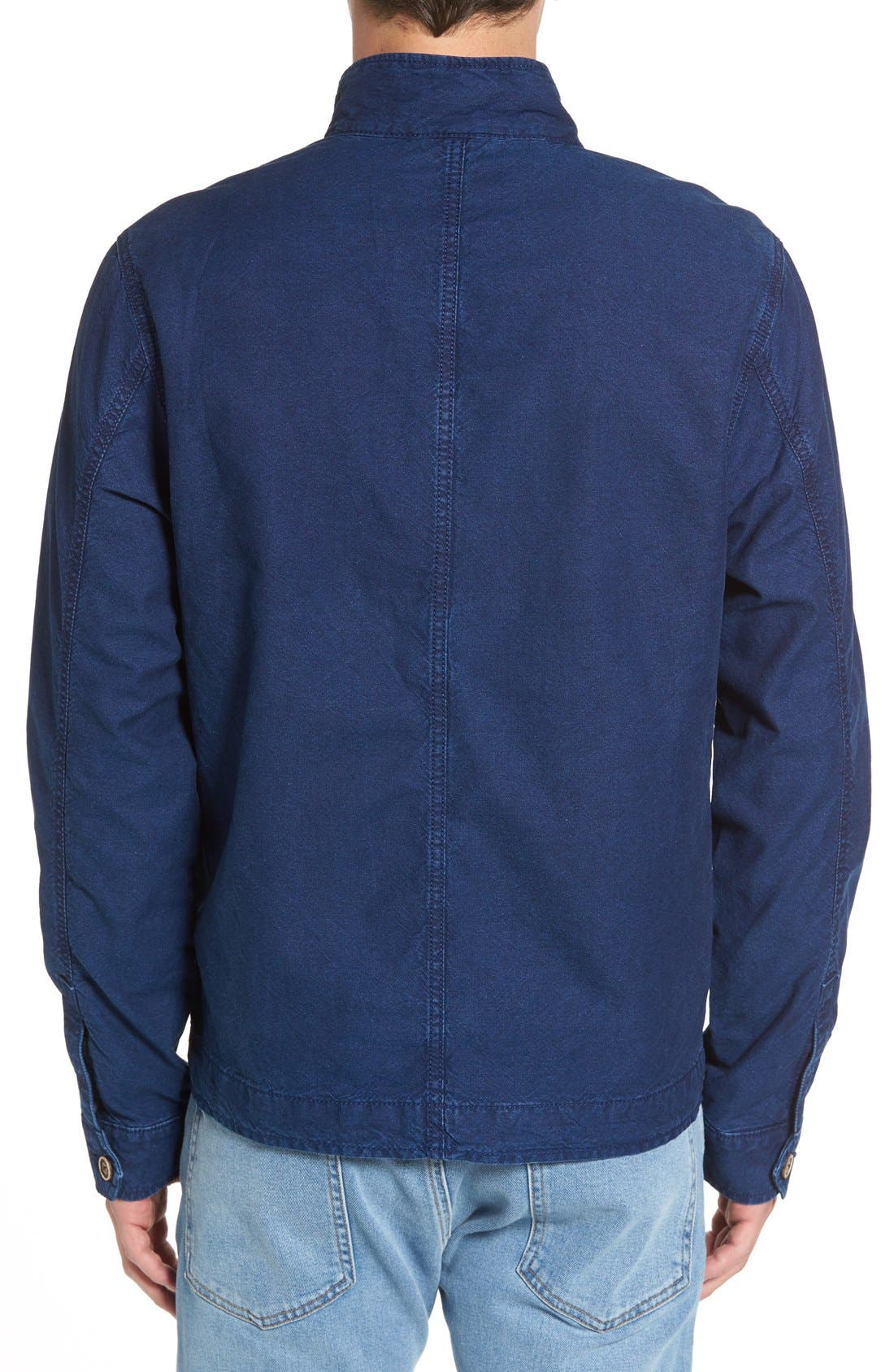 LUCKY BRAND,                             Denim Harrington Jacket,                             Alternate thumbnail 5, color,                             410