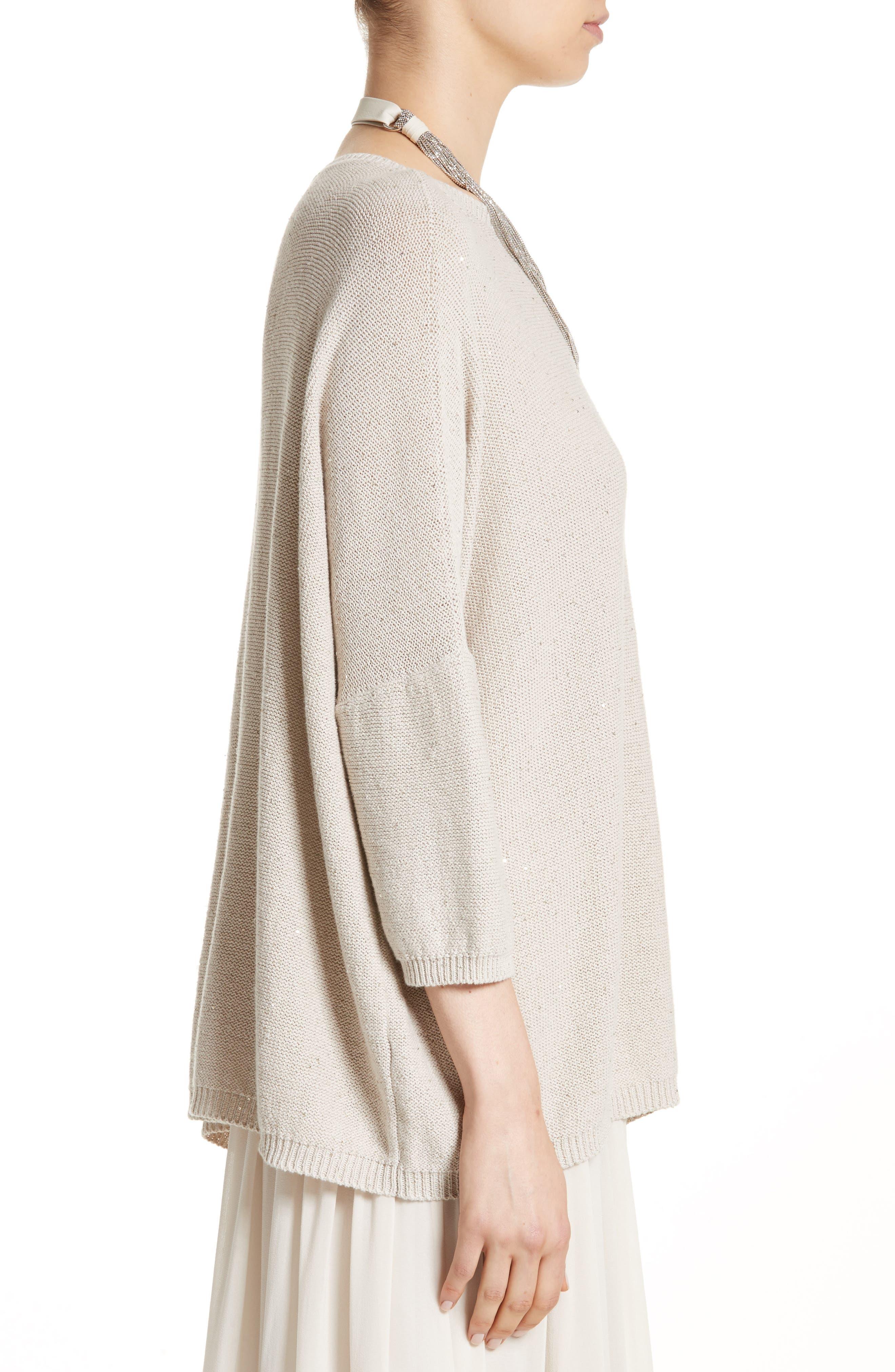 Sequin Knit Dolman Sweater,                             Alternate thumbnail 3, color,