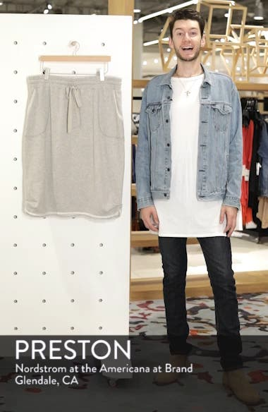 Drawstring Knit Skirt, sales video thumbnail