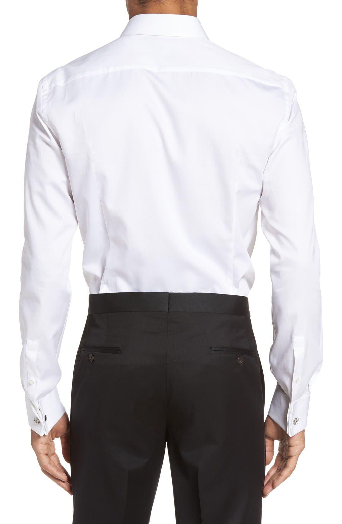 Jant Slim Fit Tuxedo Shirt,                             Alternate thumbnail 3, color,                             100