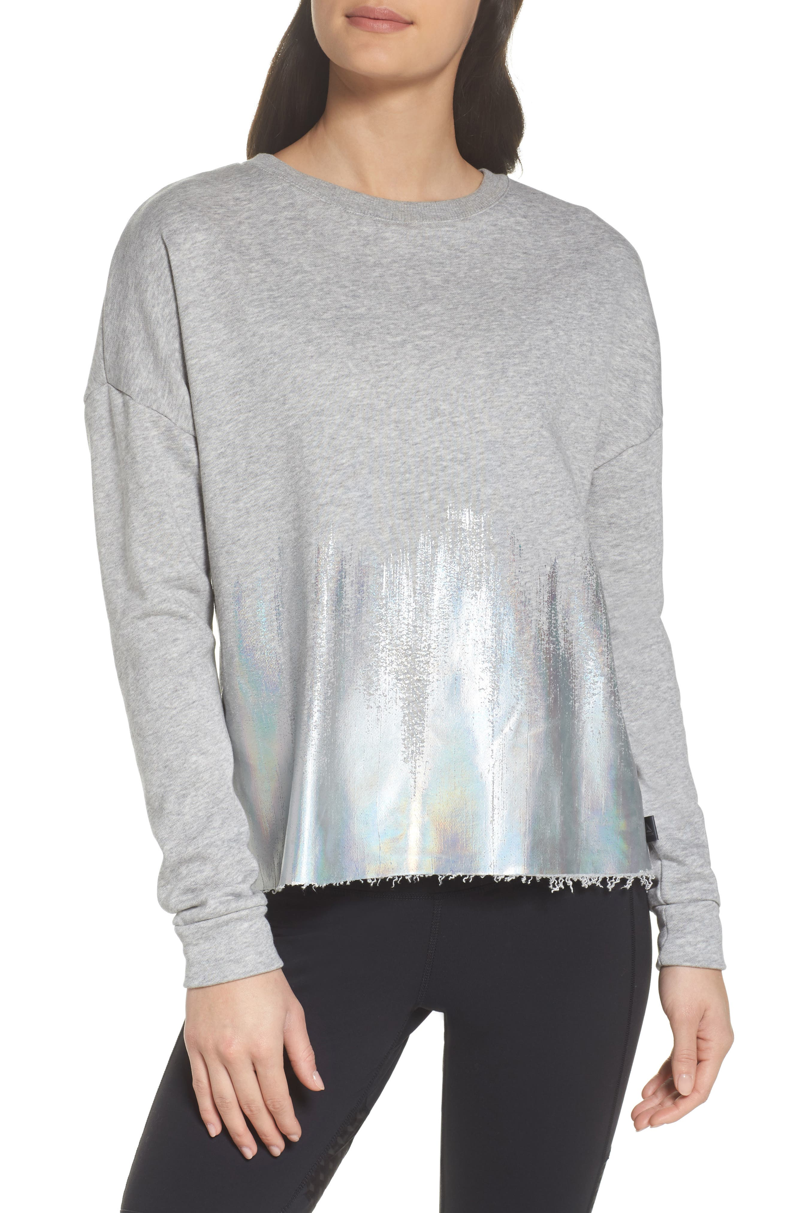 Foil Crewneck Shirt,                         Main,                         color,
