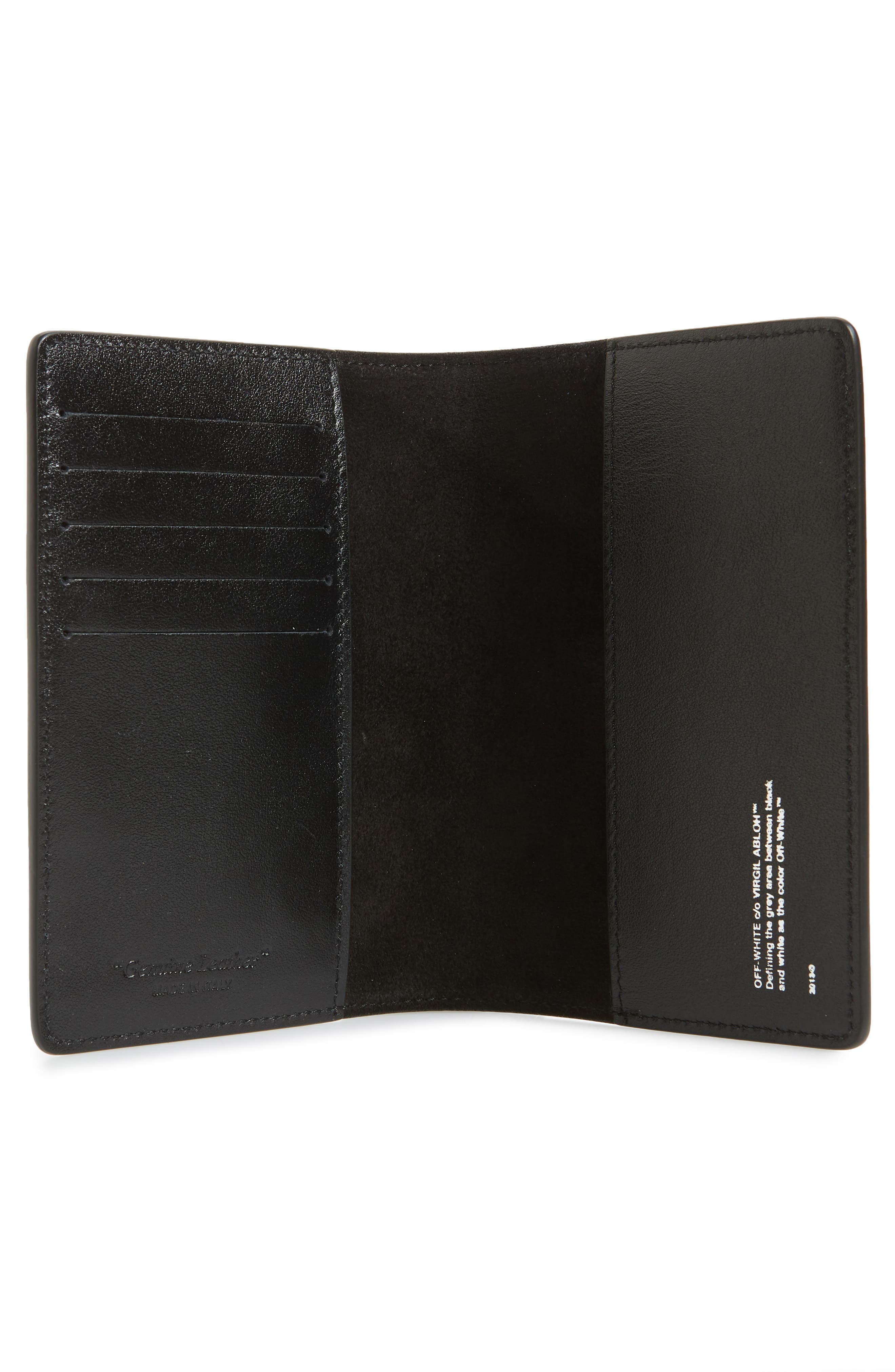 OFF-WHITE,                             Quote Leather Passport Wallet,                             Alternate thumbnail 2, color,                             001