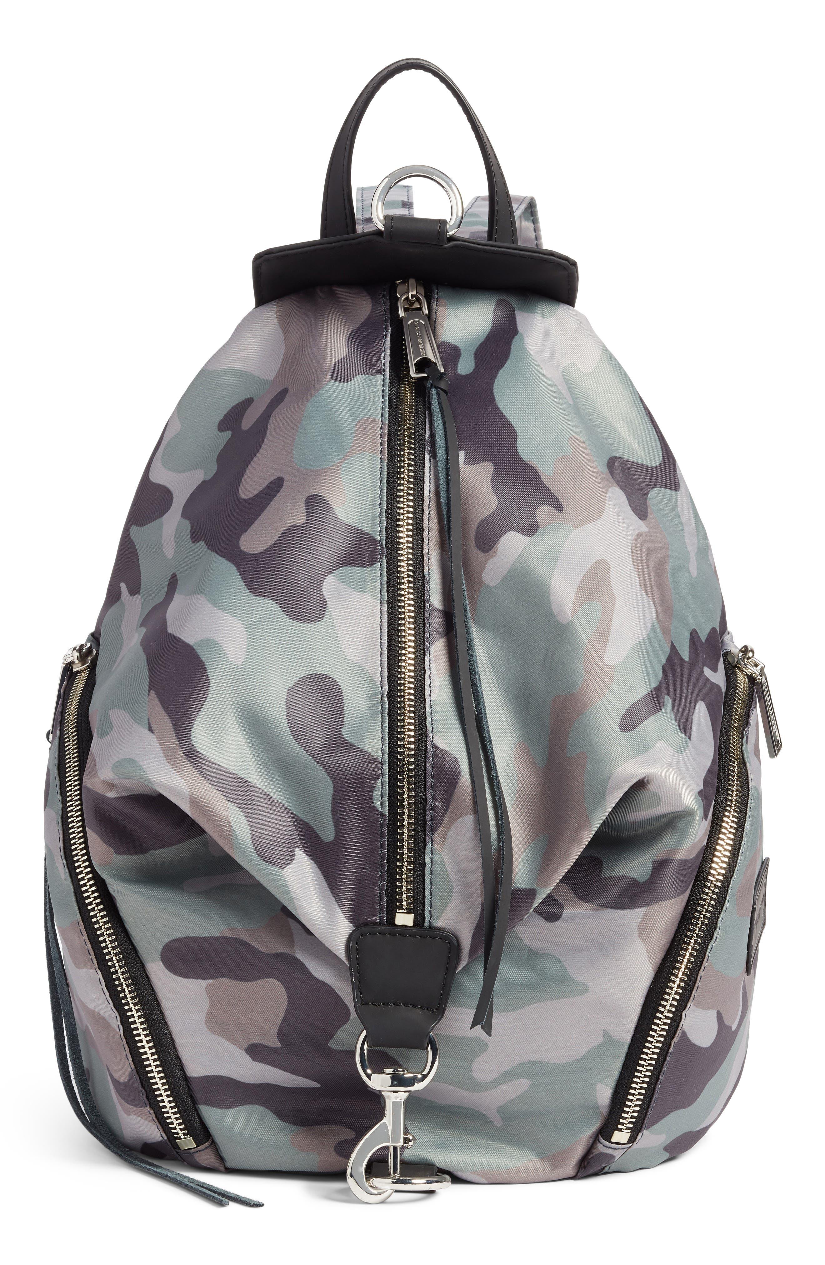 Julian Nylon Backpack - Green in Camo Print